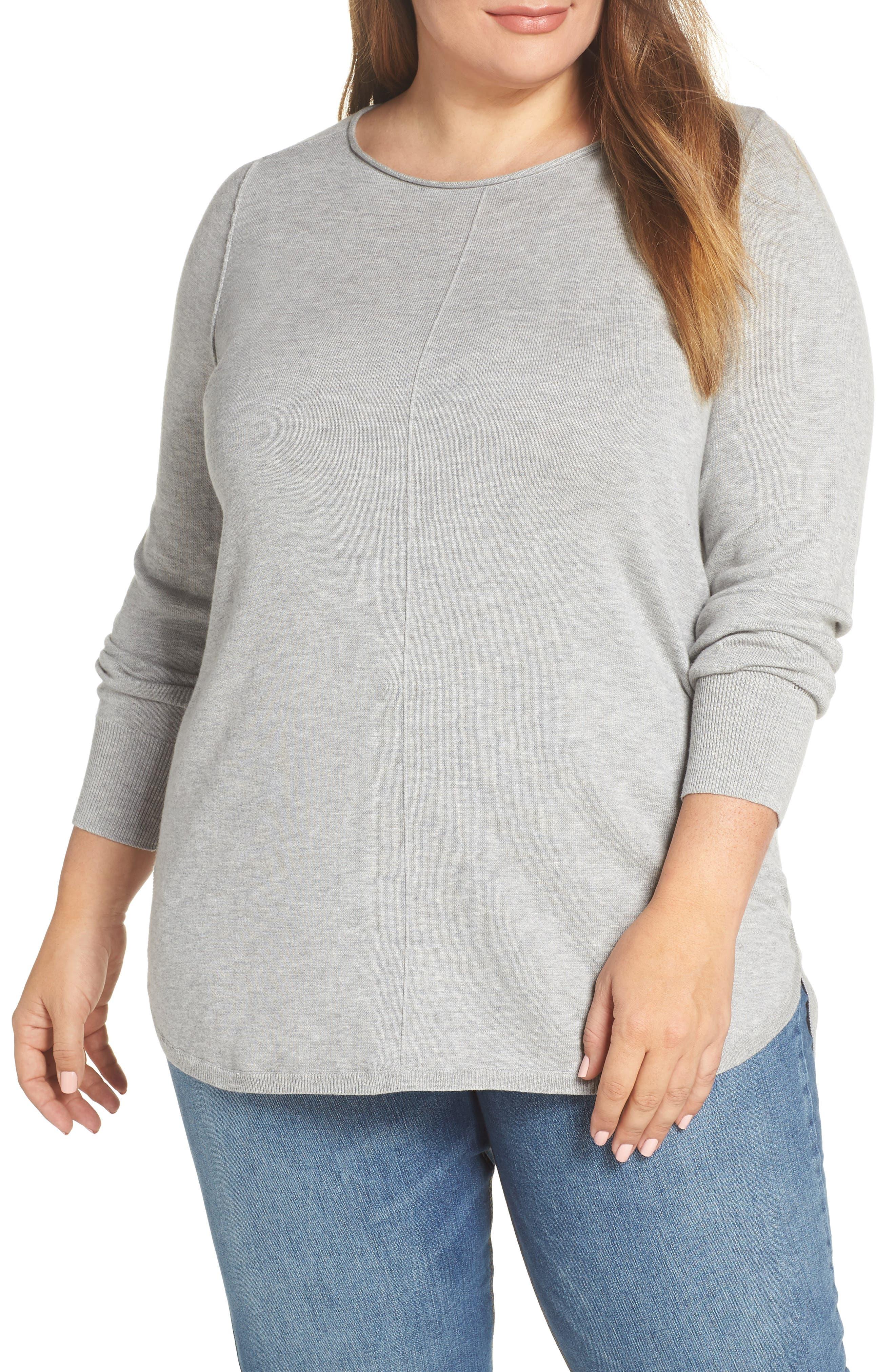 CASLON<SUP>®</SUP>, Seam Detail Shirttail Tunic, Main thumbnail 1, color, 030