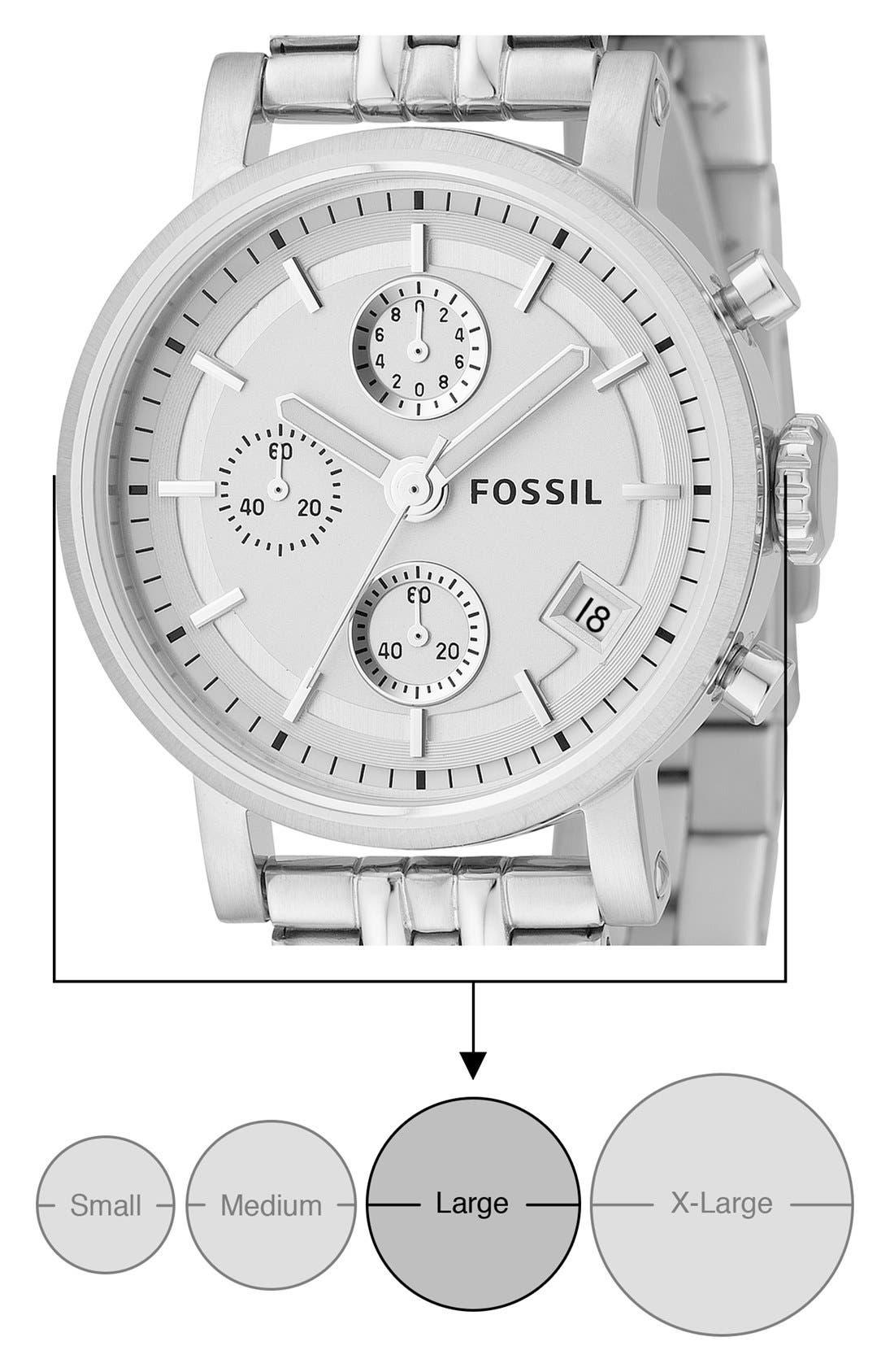 FOSSIL, 'Original Boyfriend' Chronograph Bracelet Watch, 38mm, Alternate thumbnail 2, color, 040