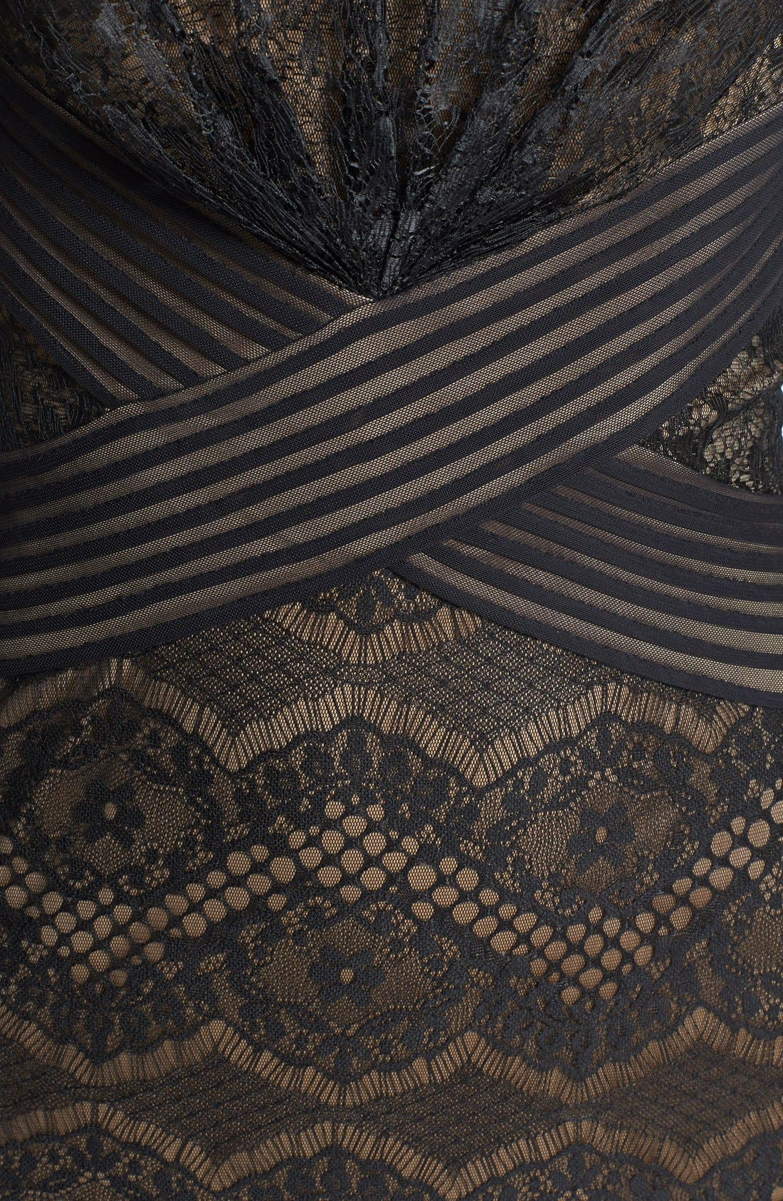 TADASHI SHOJI, Lace Sheath Dress, Alternate thumbnail 5, color, 004