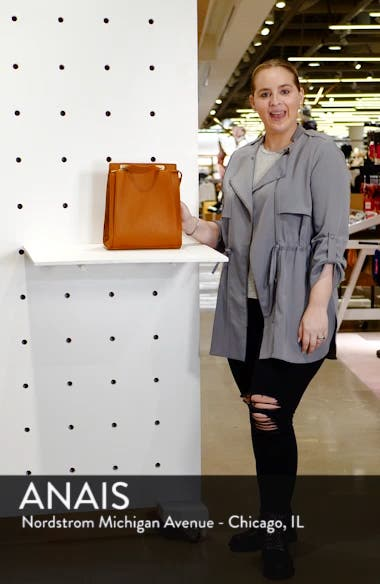 Faux Leather Convertible Backpack, sales video thumbnail