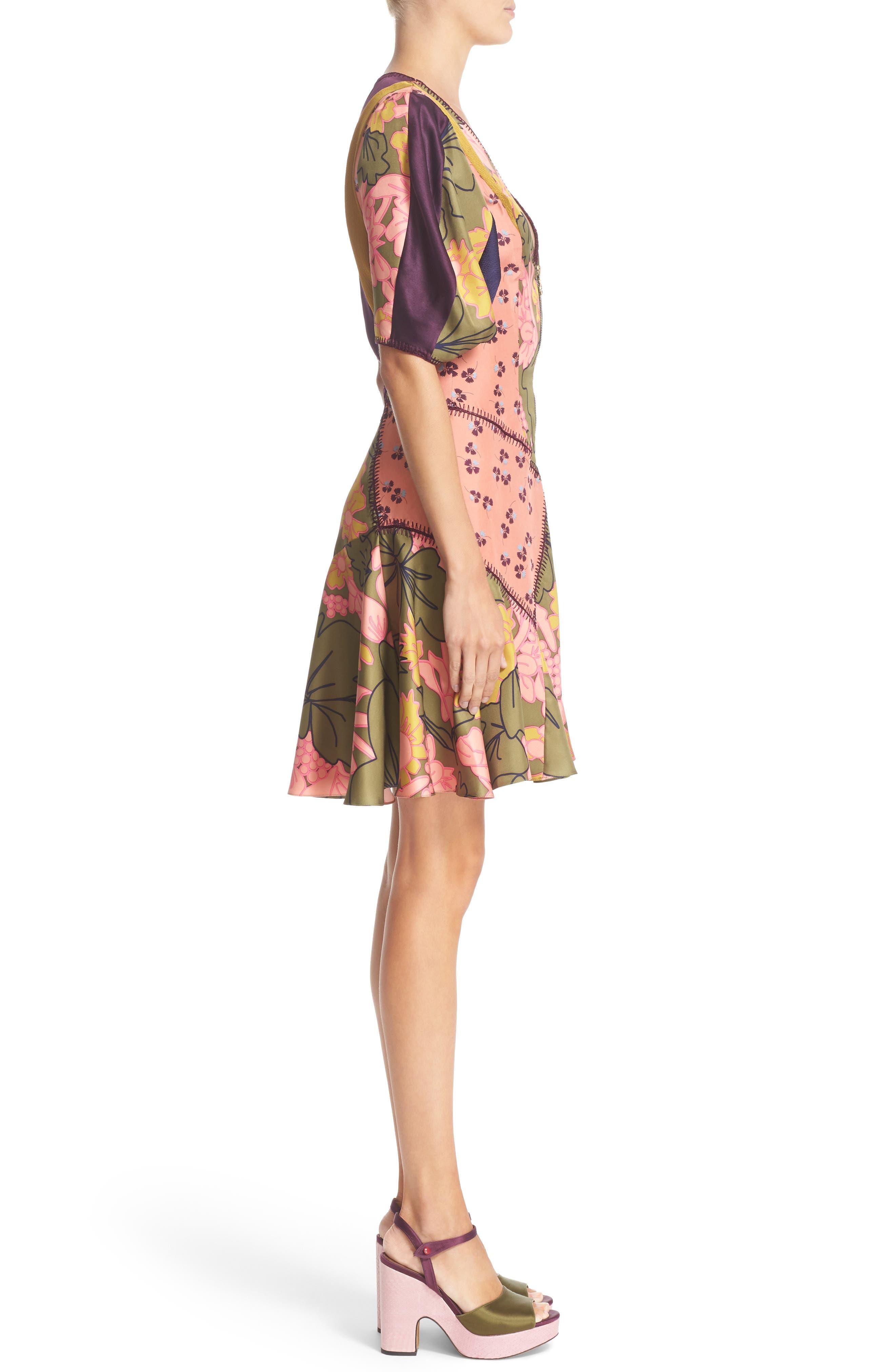 ROKSANDA, Hirani Dress, Alternate thumbnail 4, color, 695