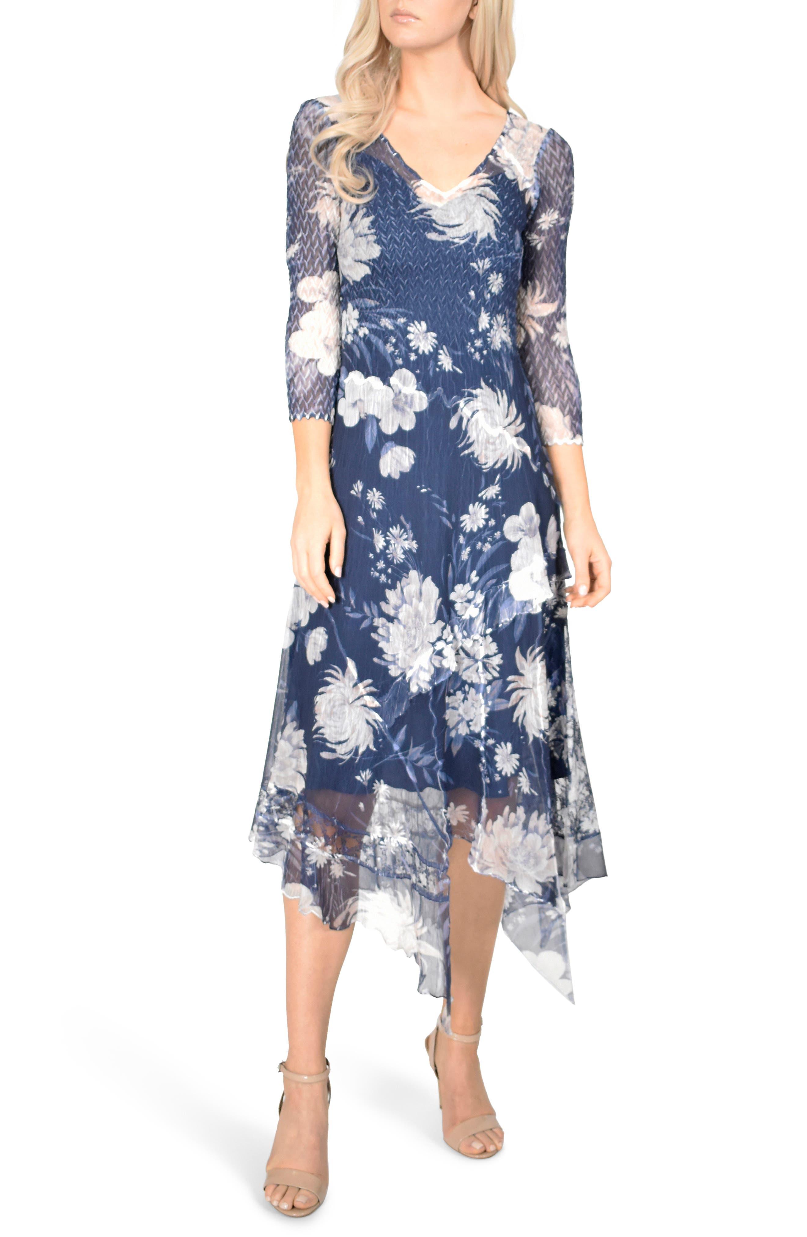 KOMAROV Handkerchief Hem Dress, Main, color, 400
