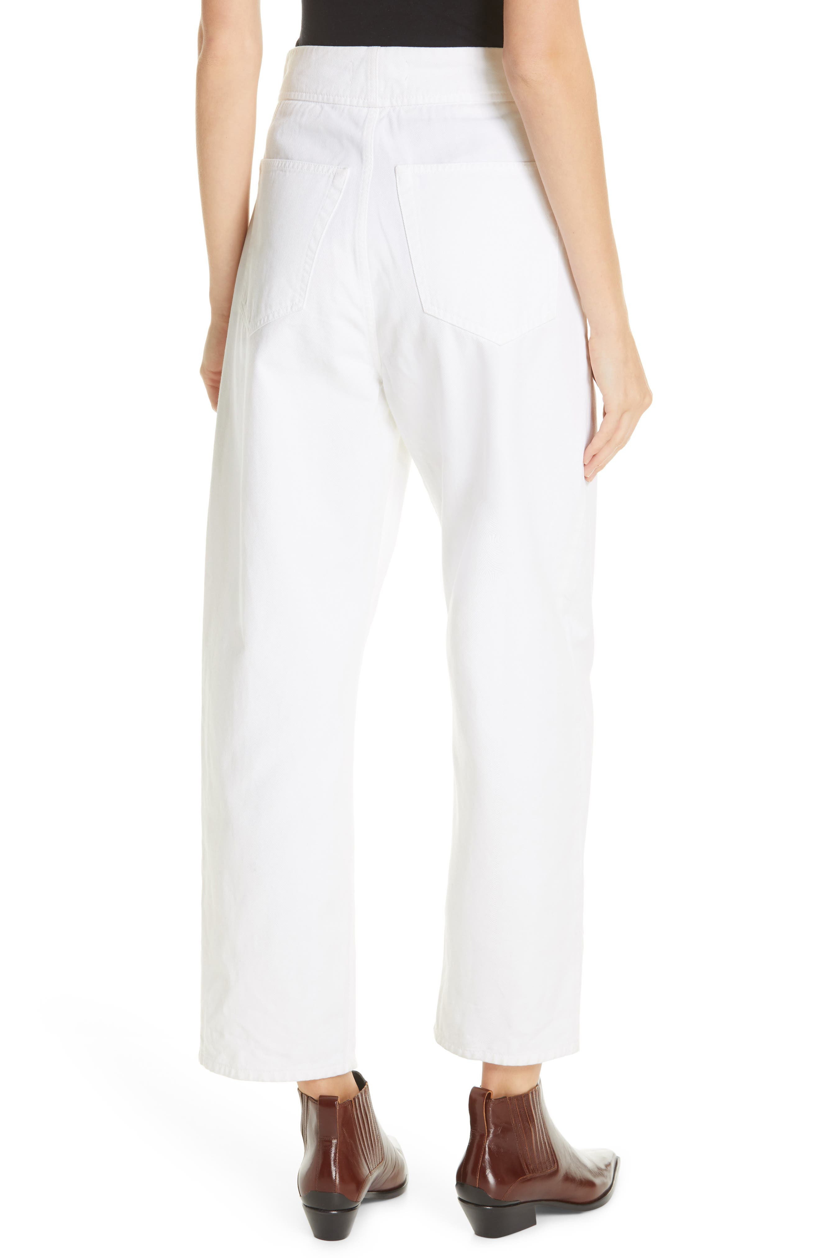 NILI LOTAN, Toledo Crop Cotton Pants, Alternate thumbnail 2, color, VINTAGE WHITE