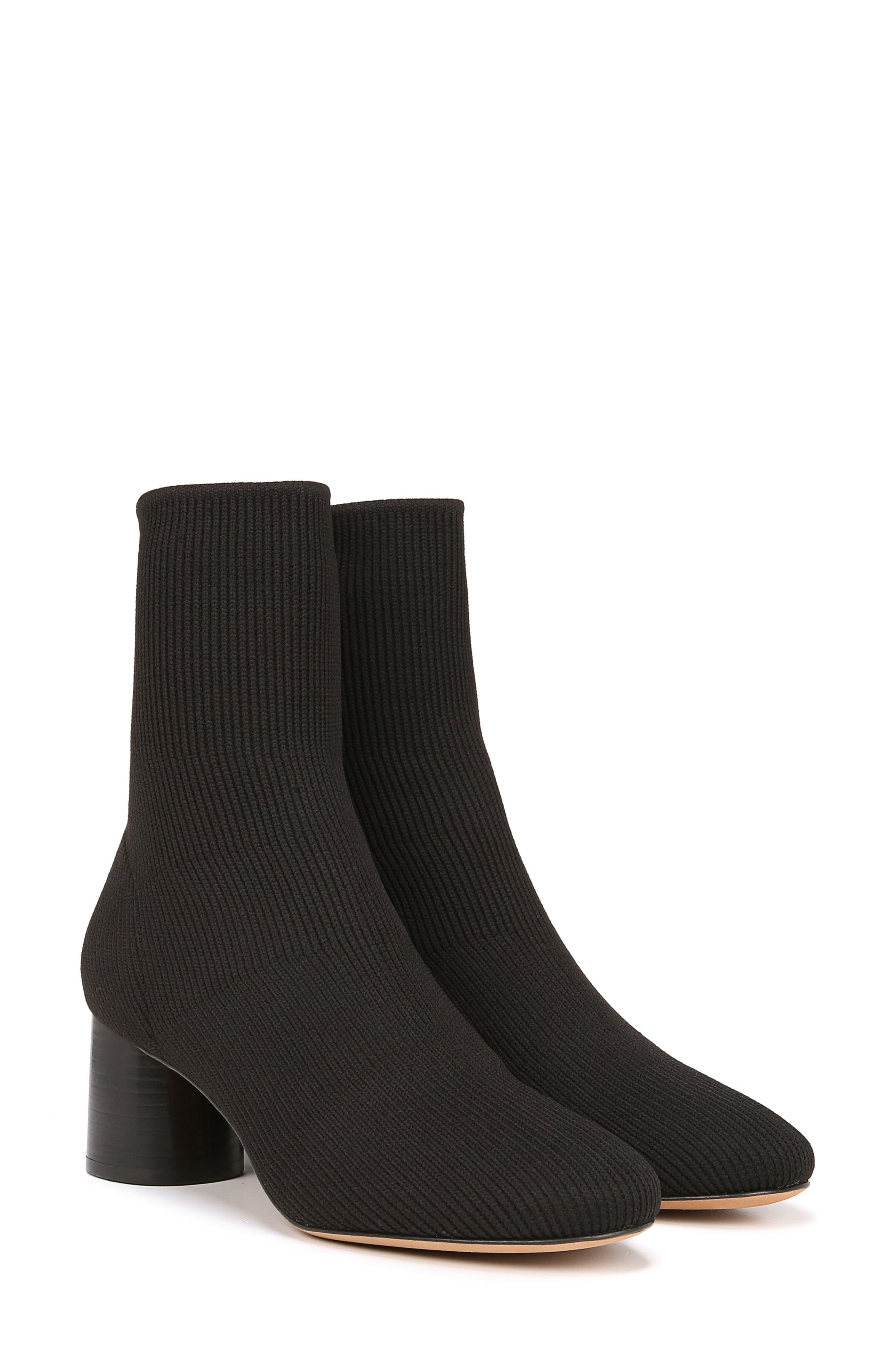 VINCE, Tasha Sock Bootie, Alternate thumbnail 8, color, BLACK