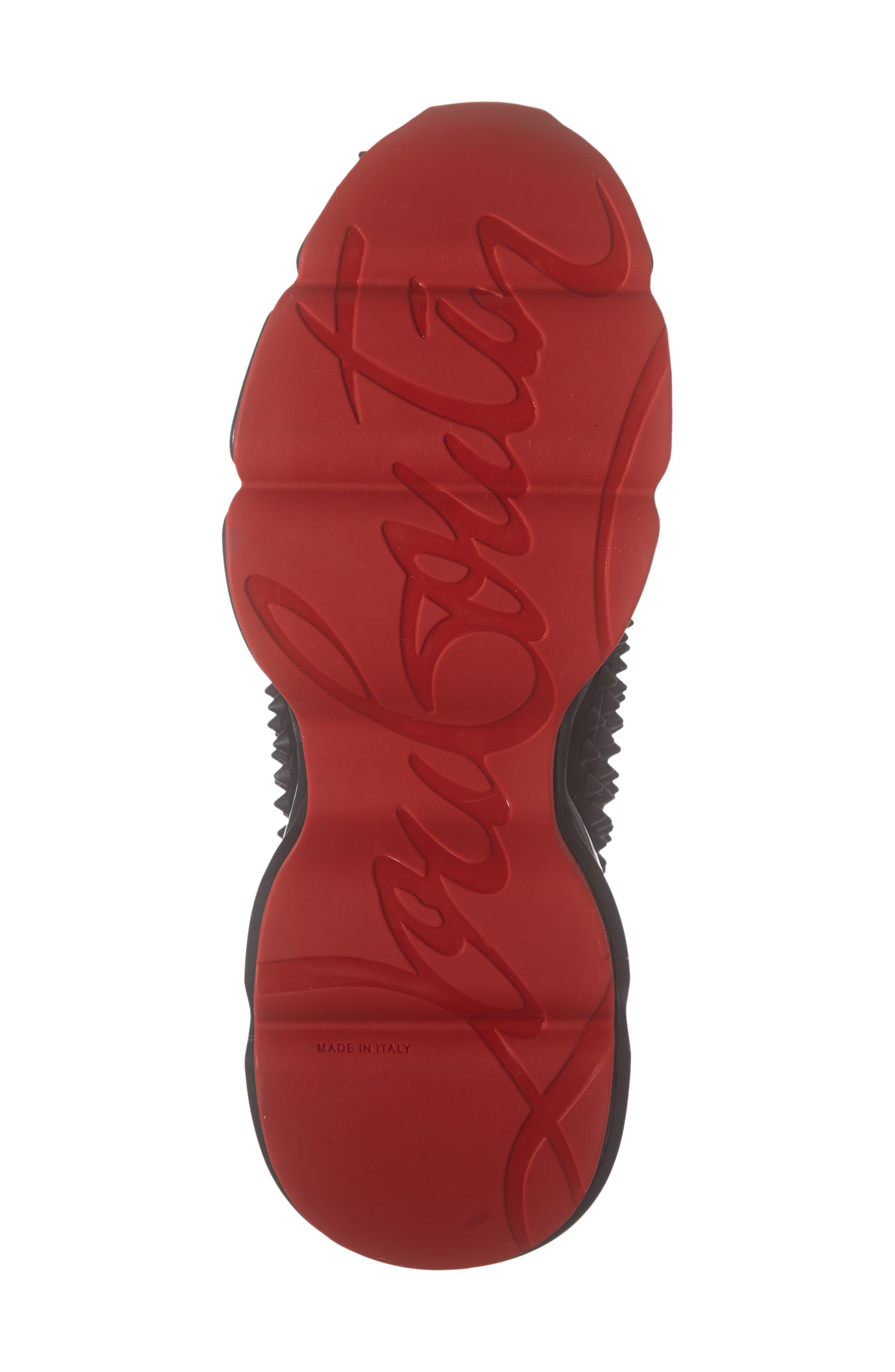 CHRISTIAN LOUBOUTIN, Spike Sock Donna Sneaker, Alternate thumbnail 6, color, BLACK