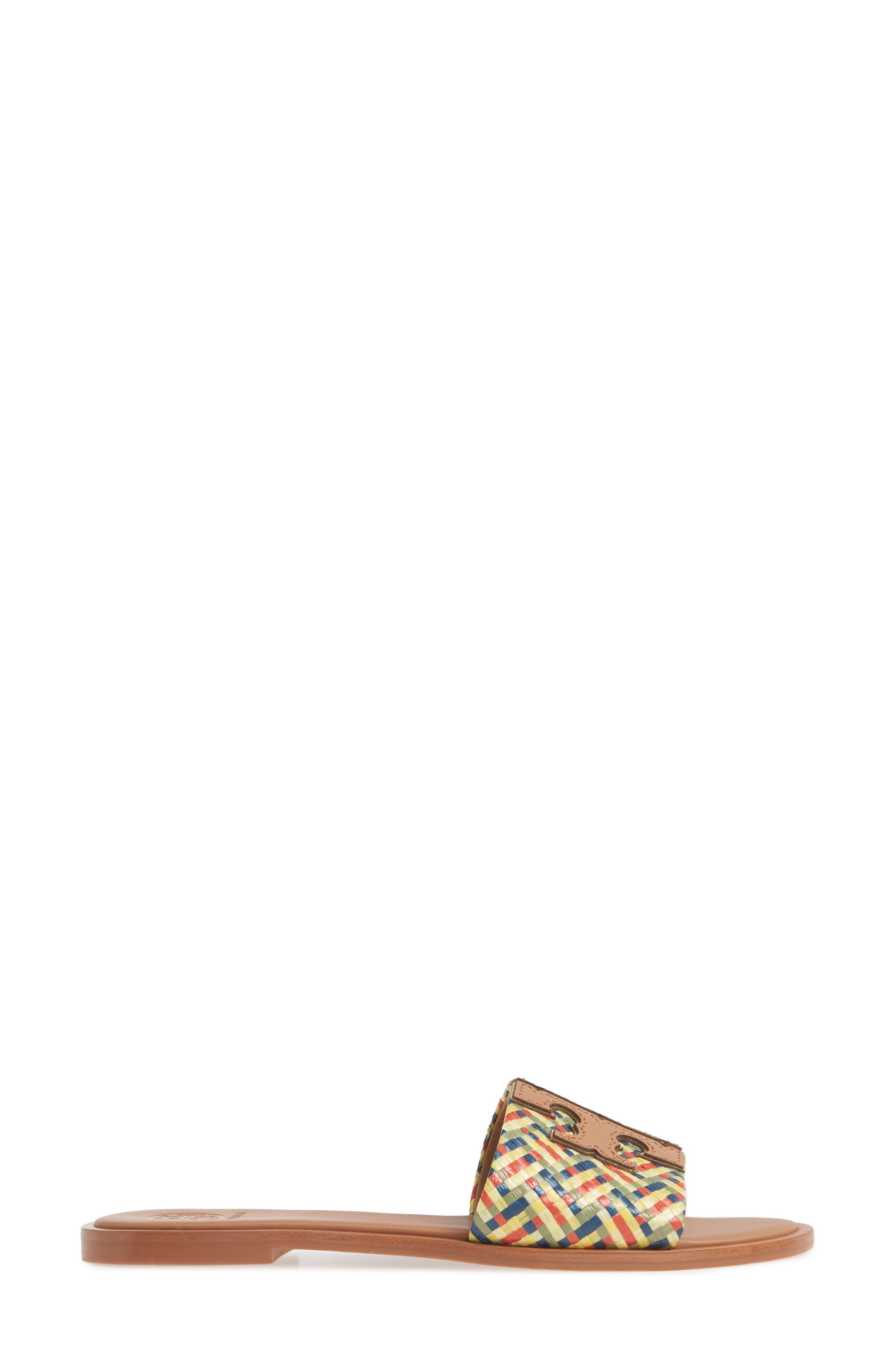 TORY BURCH, Ines Slide Sandal, Alternate thumbnail 3, color, 003