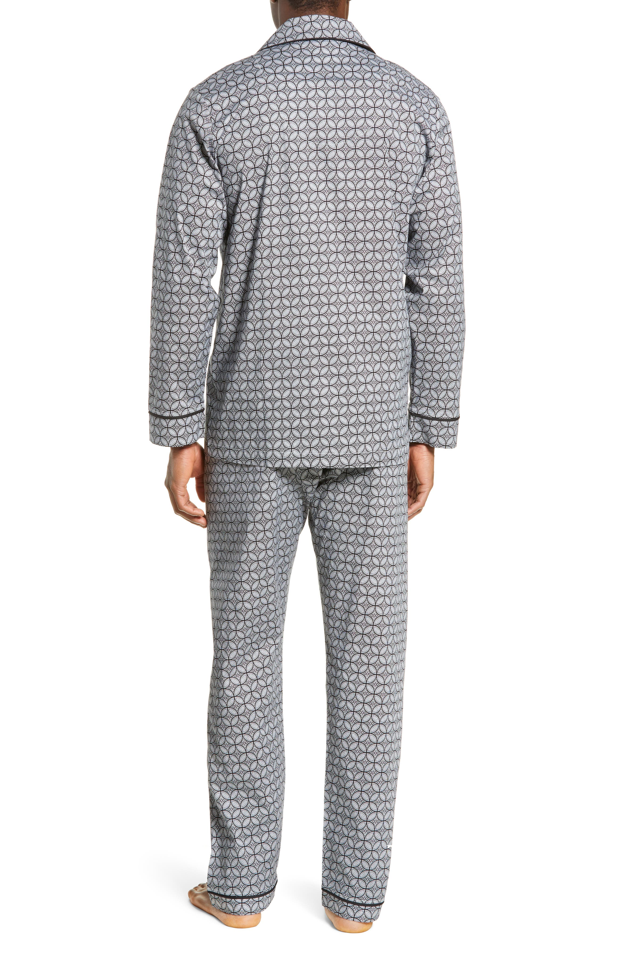 MAJESTIC INTERNATIONAL, Marbella Stretch Sateen Pajamas, Alternate thumbnail 2, color, BLACK