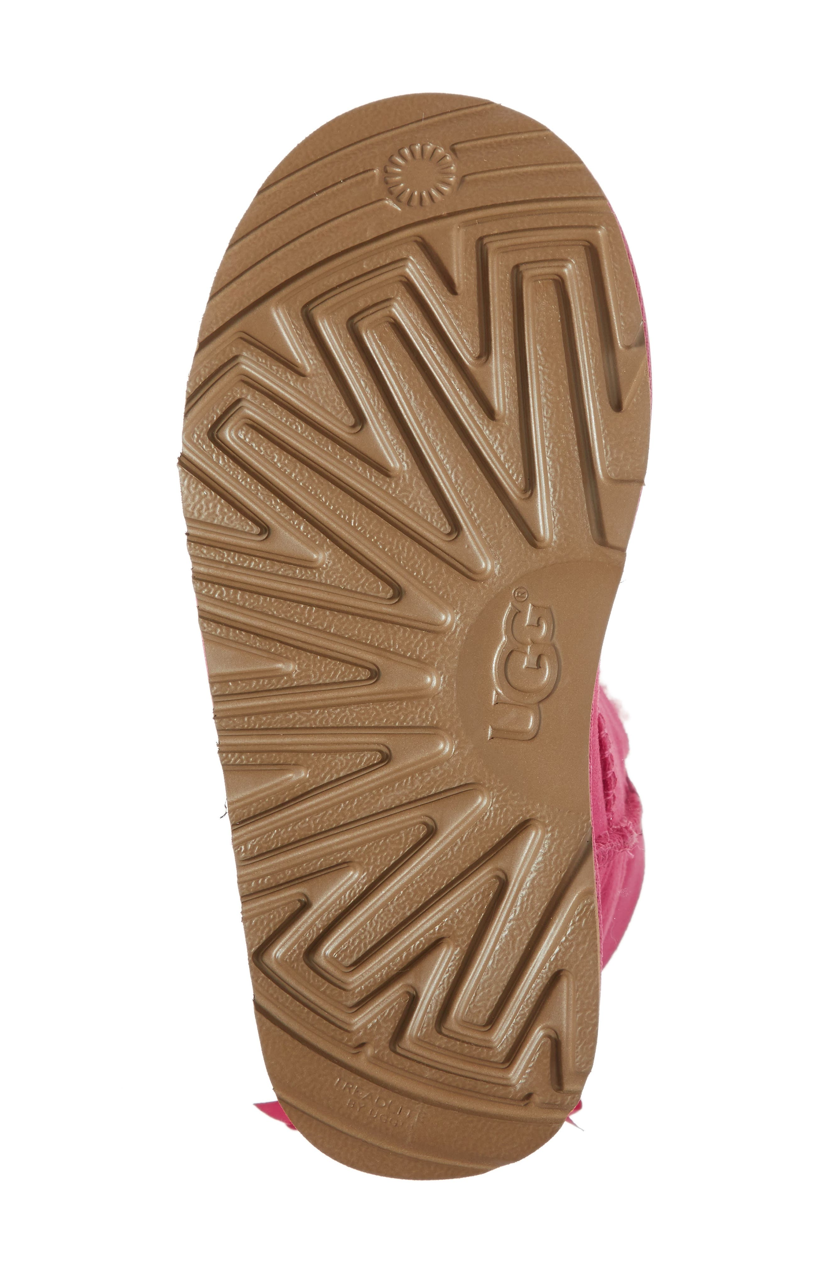 UGG<SUP>®</SUP>, Mini Bailey Bow II Water Resistant Boot, Alternate thumbnail 6, color, PINK AZALEA