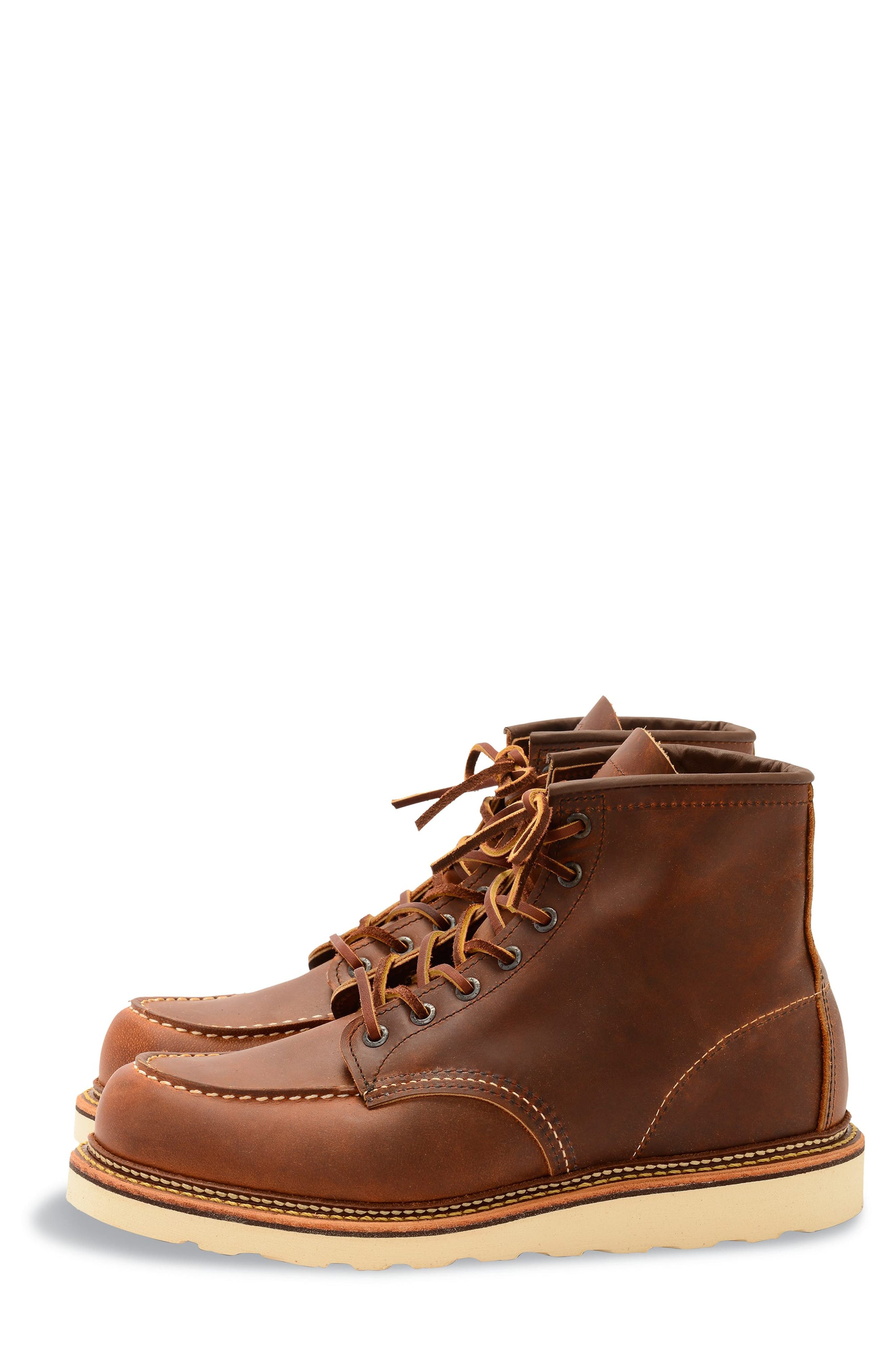RED WING, Moc Toe Boot, Alternate thumbnail 2, color, COPPER BROWN- 1907