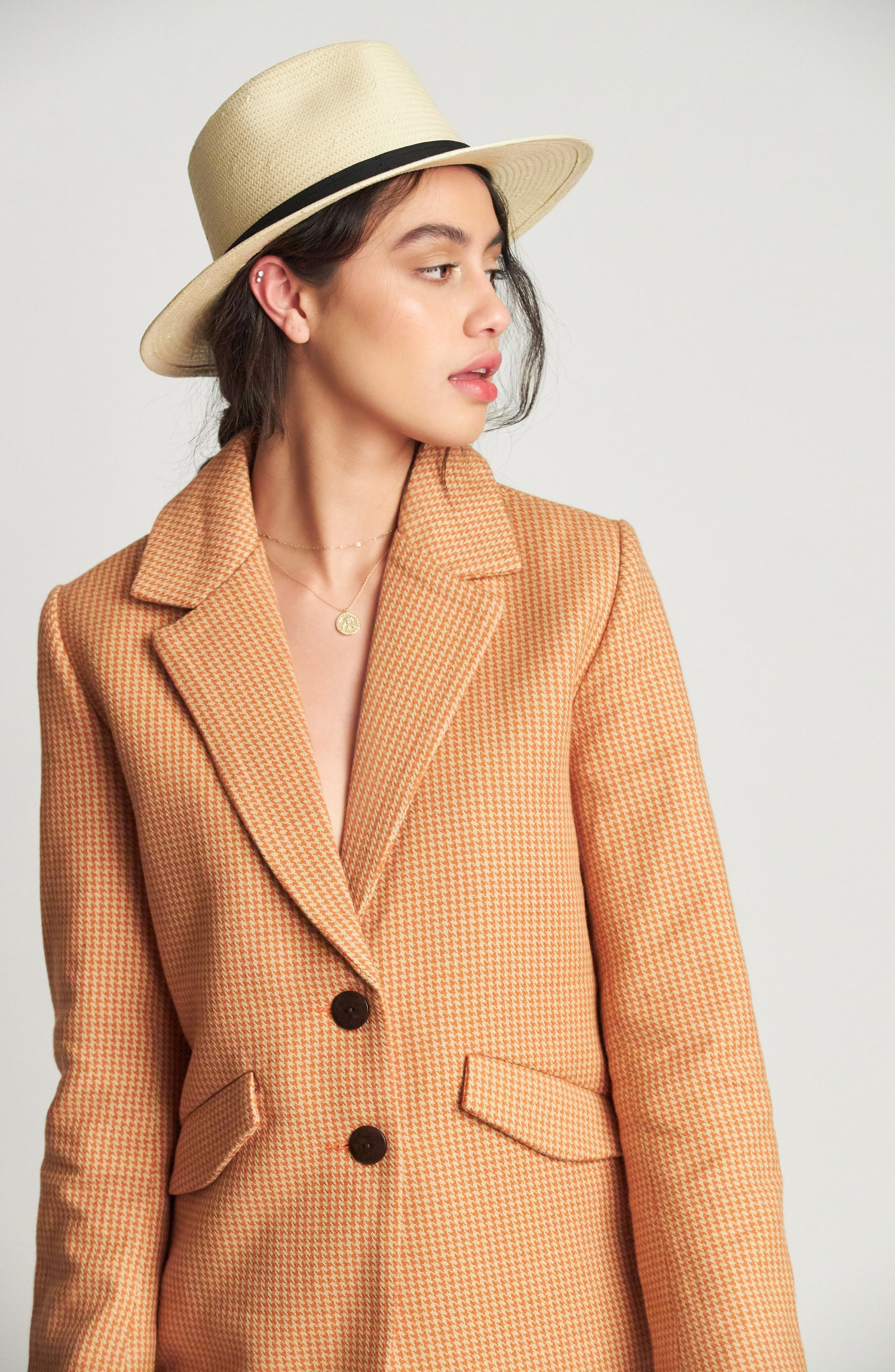 BRIXTON, 'Pacific' Straw Fedora, Alternate thumbnail 2, color, BEIGE