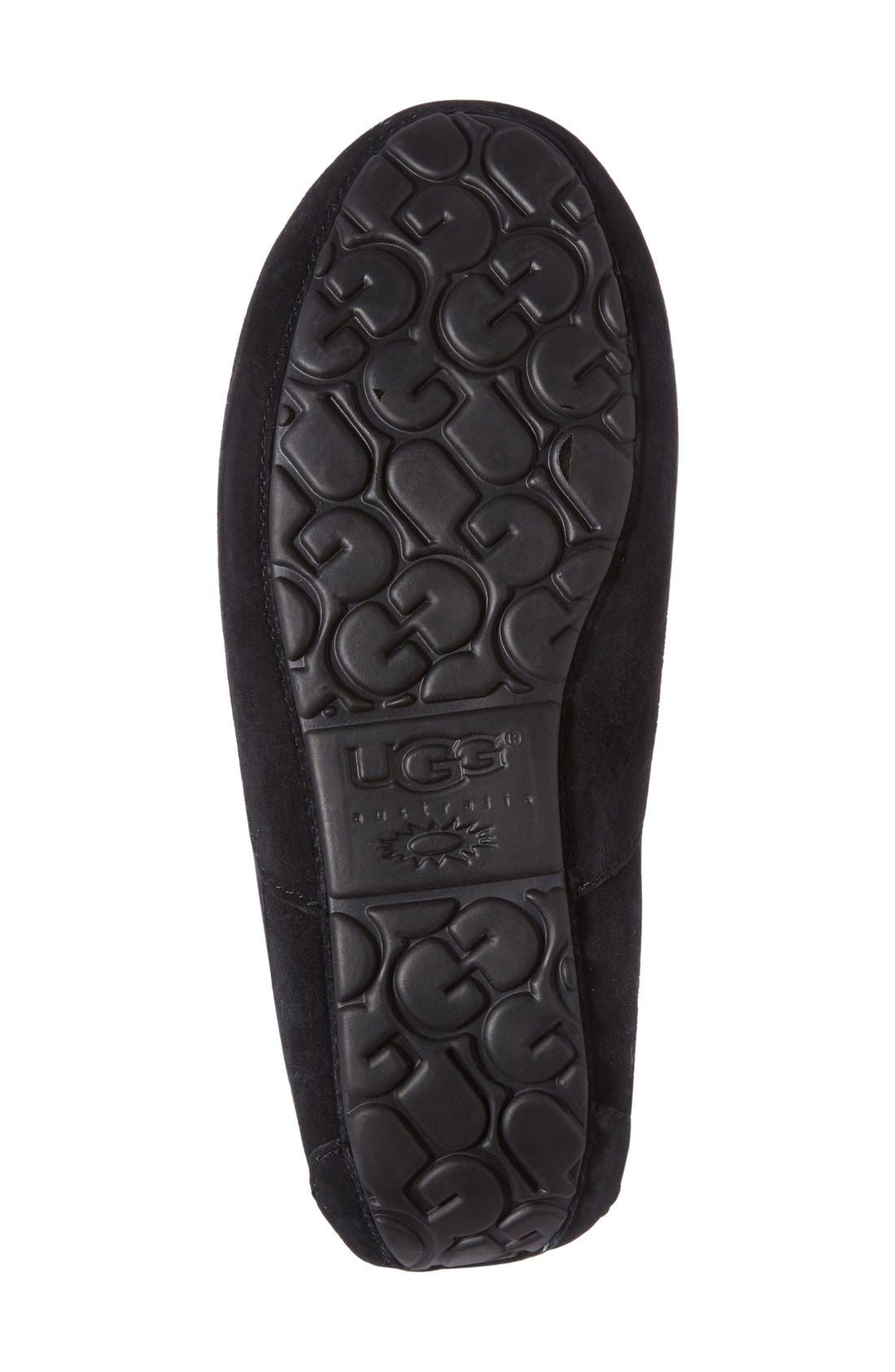 UGG<SUP>®</SUP>, Ascot Suede Slipper, Alternate thumbnail 2, color, BLACK SUEDE