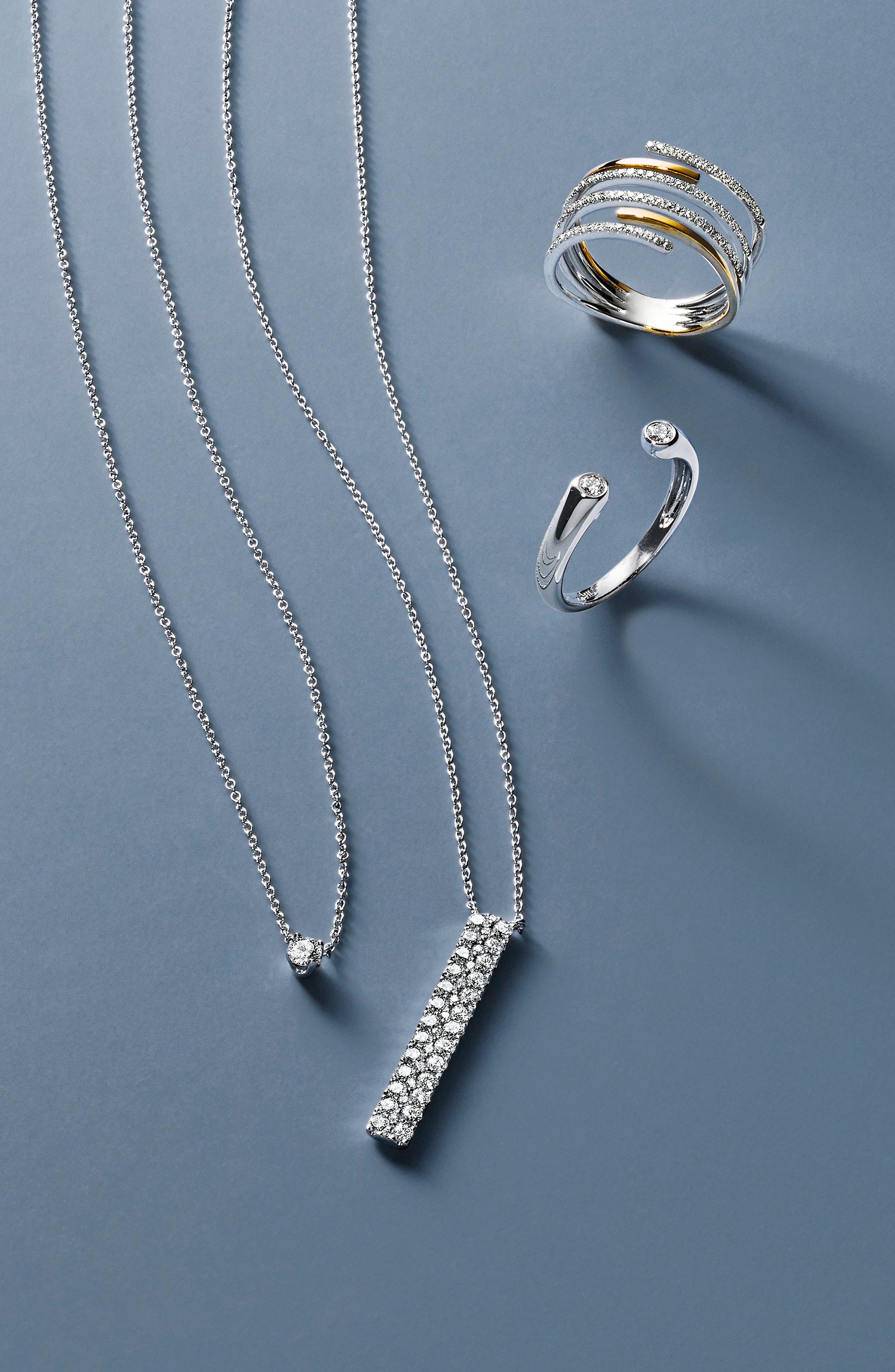 BONY LEVY, Openwork Diamond Ring, Alternate thumbnail 3, color, YELLOW GOLD/ WHITE GOLD