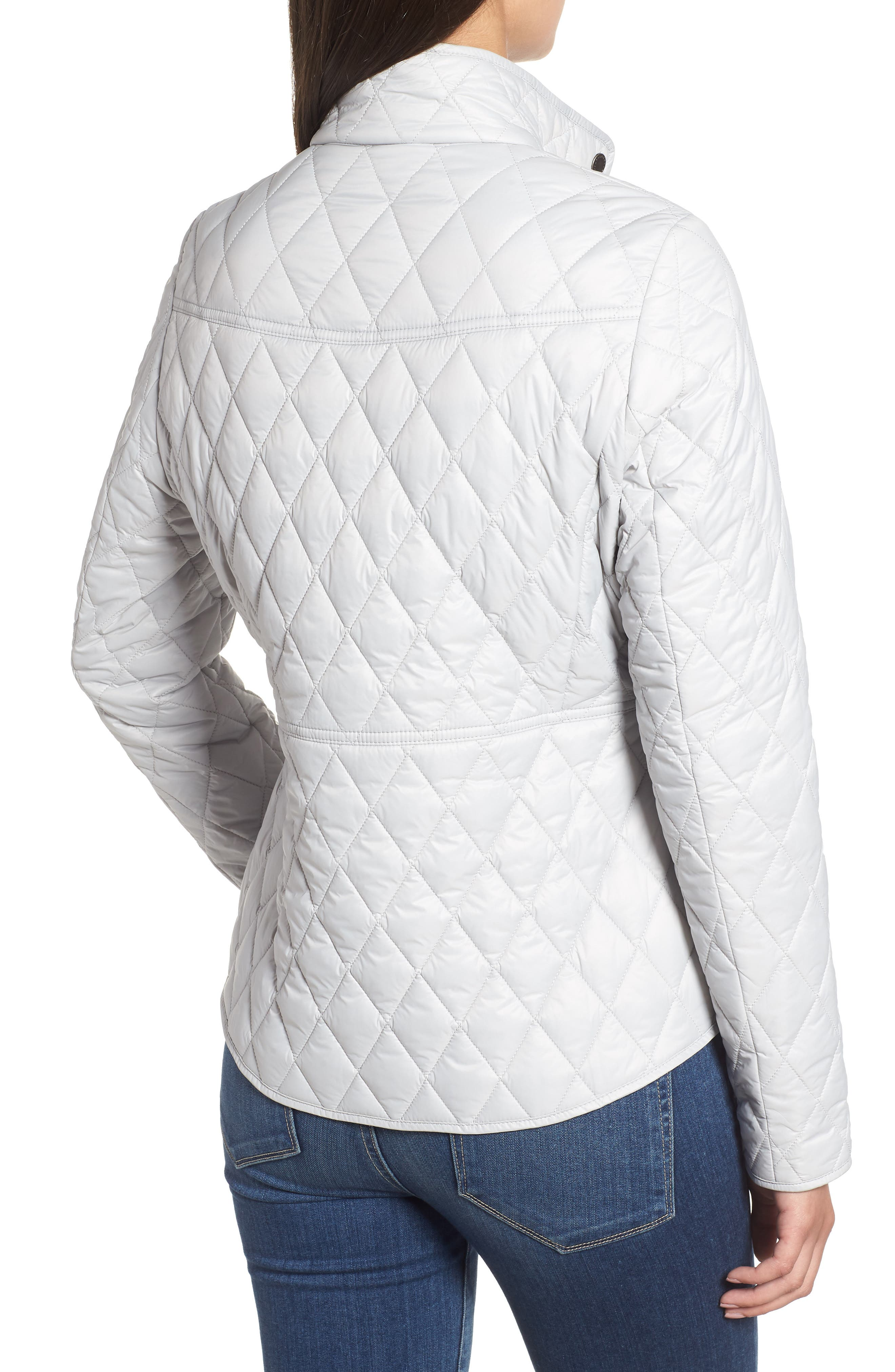 BARBOUR, Annis Quilted Jacket, Alternate thumbnail 2, color, 100