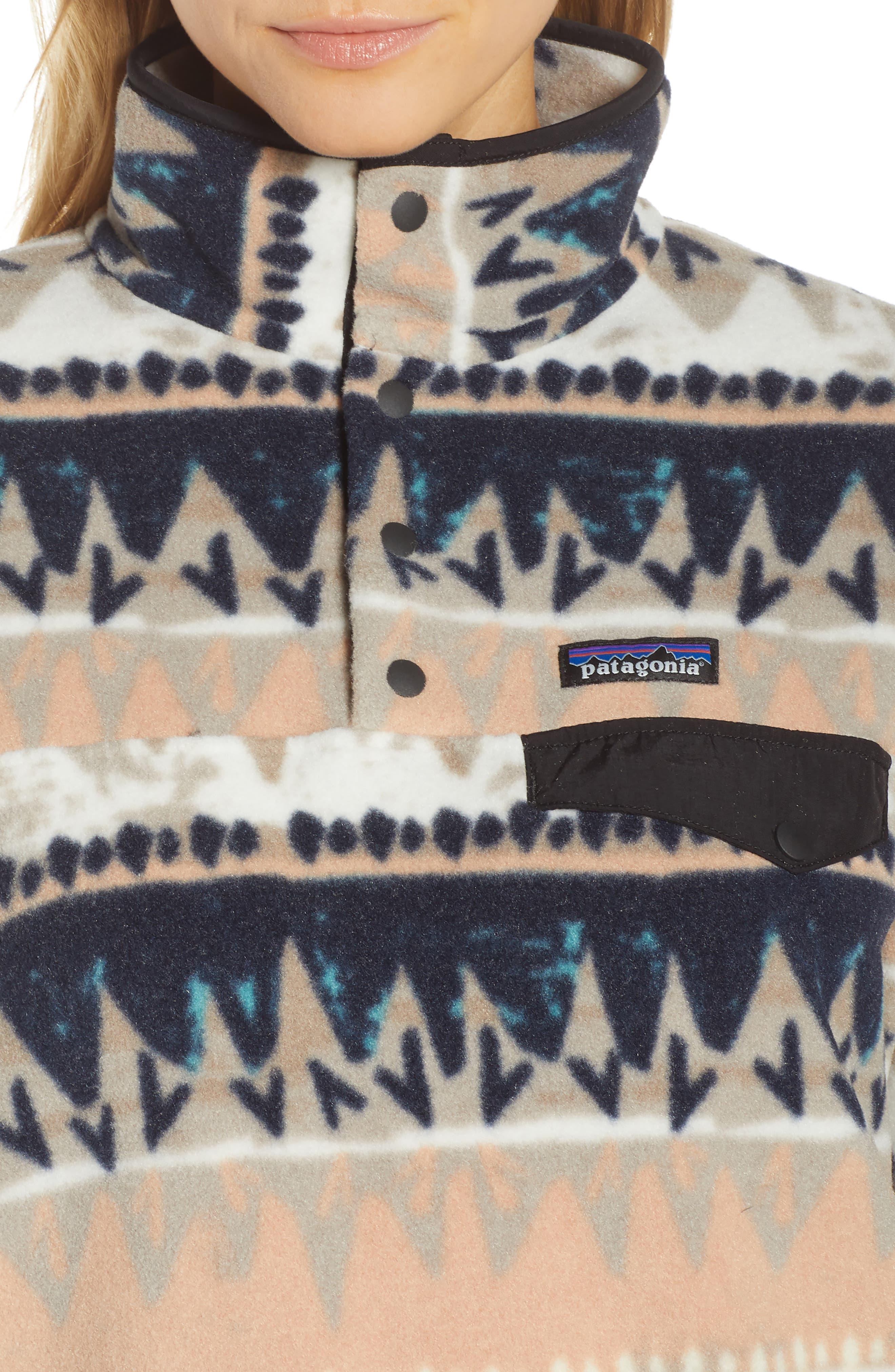 PATAGONIA, Synchilla Snap-T<sup>®</sup> Fleece Pullover, Alternate thumbnail 5, color, BANDICOOT/ MARROW GREY