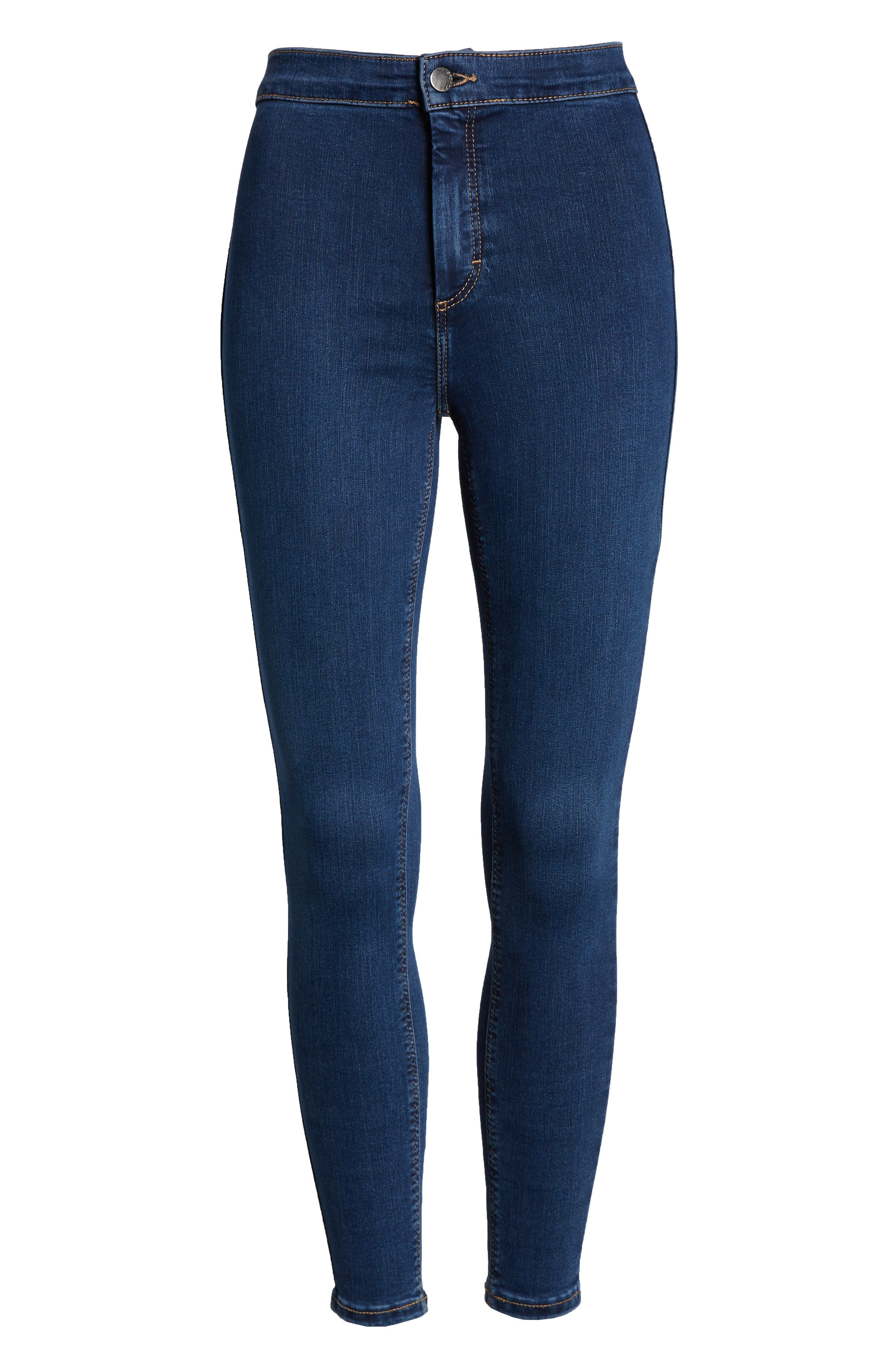 TOPSHOP, Joni High Waist Crop Skinny Jeans, Alternate thumbnail 2, color, 400