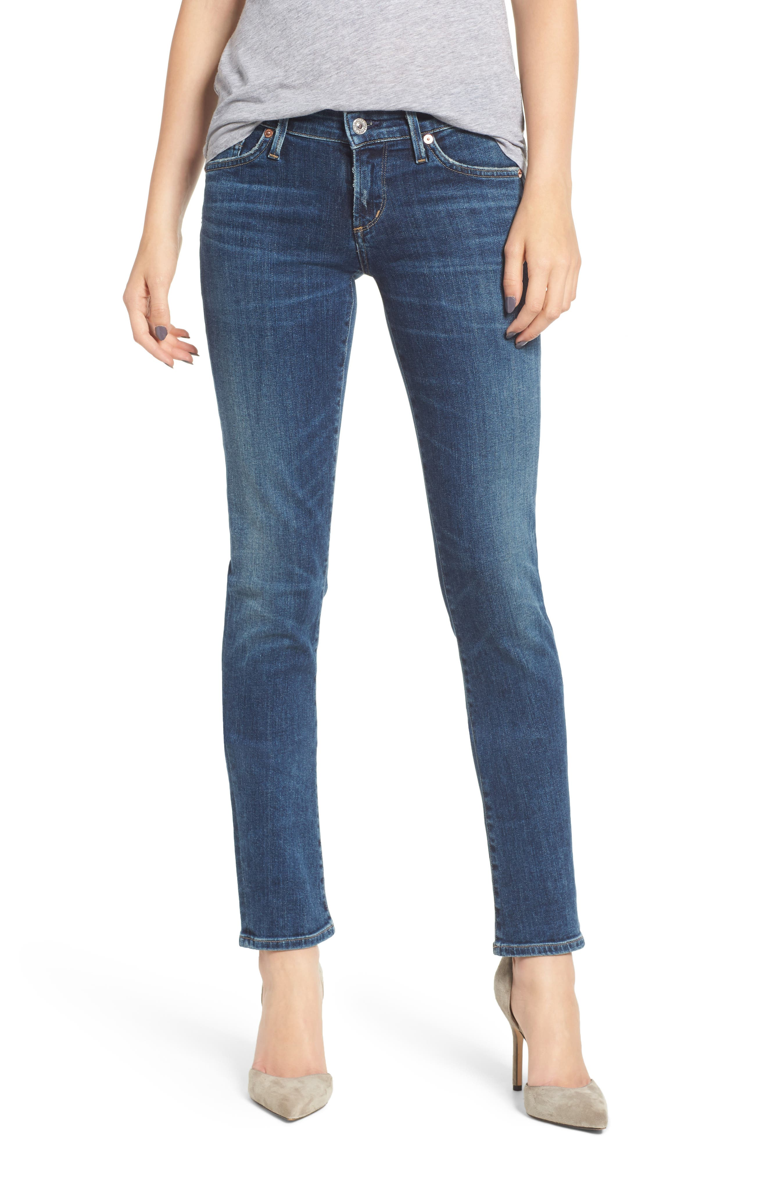 CITIZENS OF HUMANITY Racer Slim Jeans, Main, color, CASPIAN