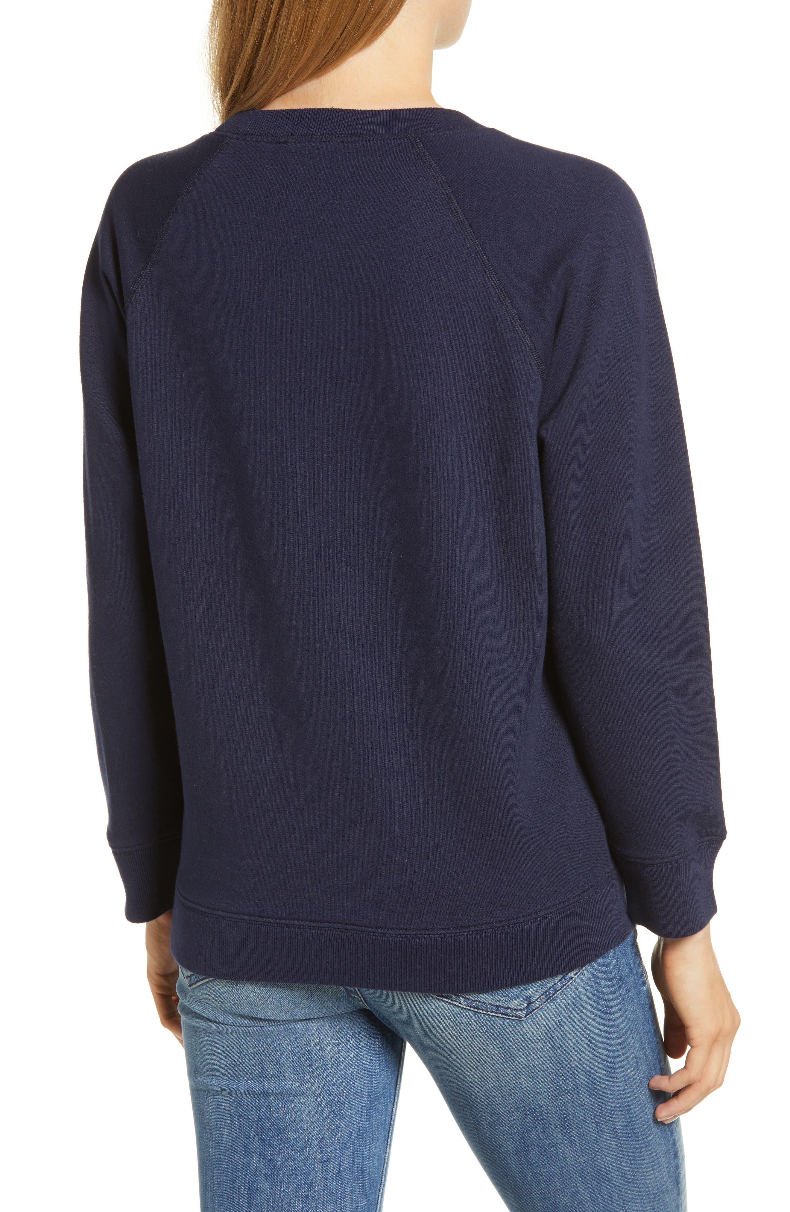 J.CREW, Champagne Sweatshirt, Alternate thumbnail 2, color, 400
