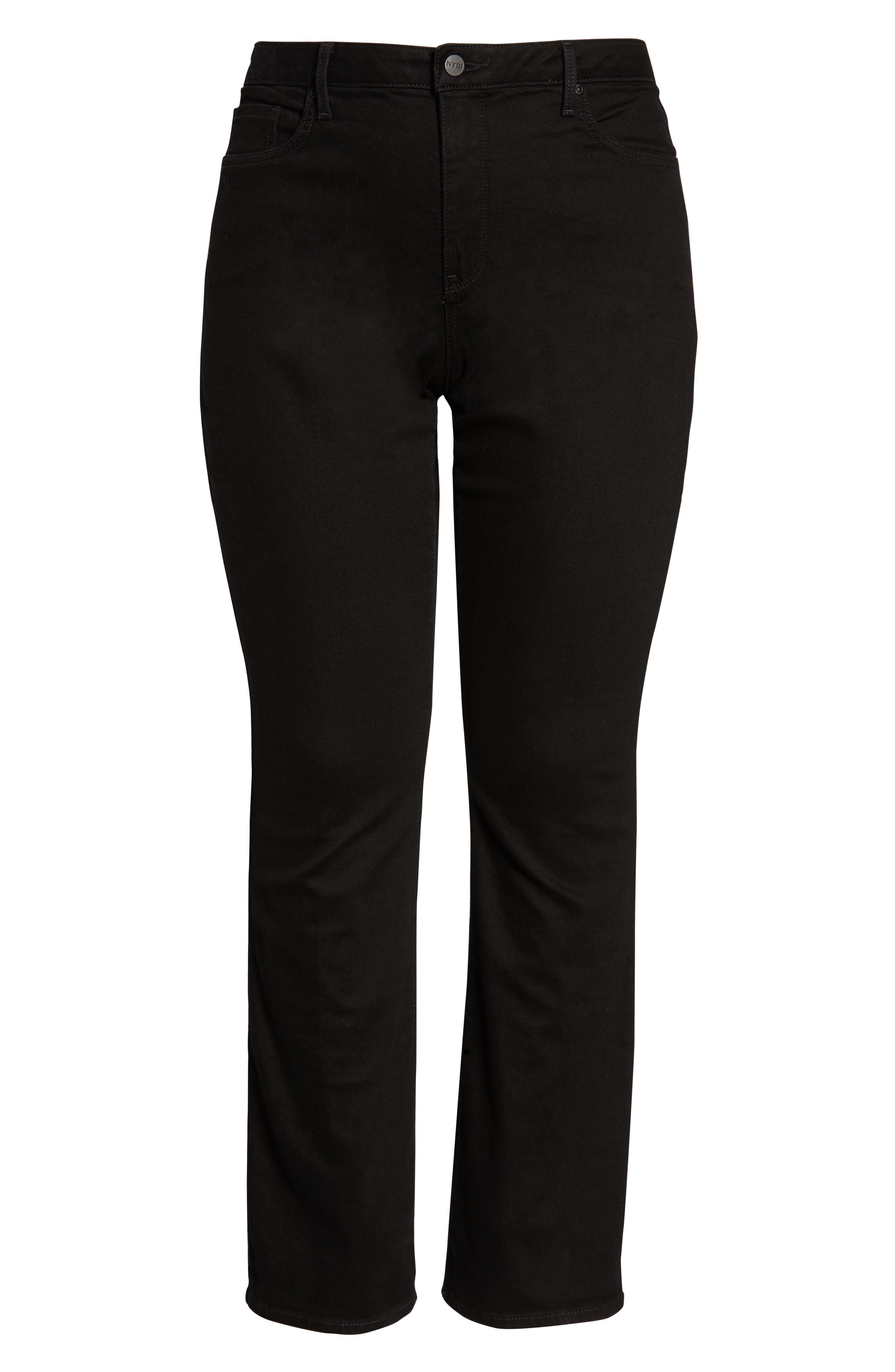 NYDJ, Barbara High Rise Bootcut Jeans, Alternate thumbnail 6, color, BLACK