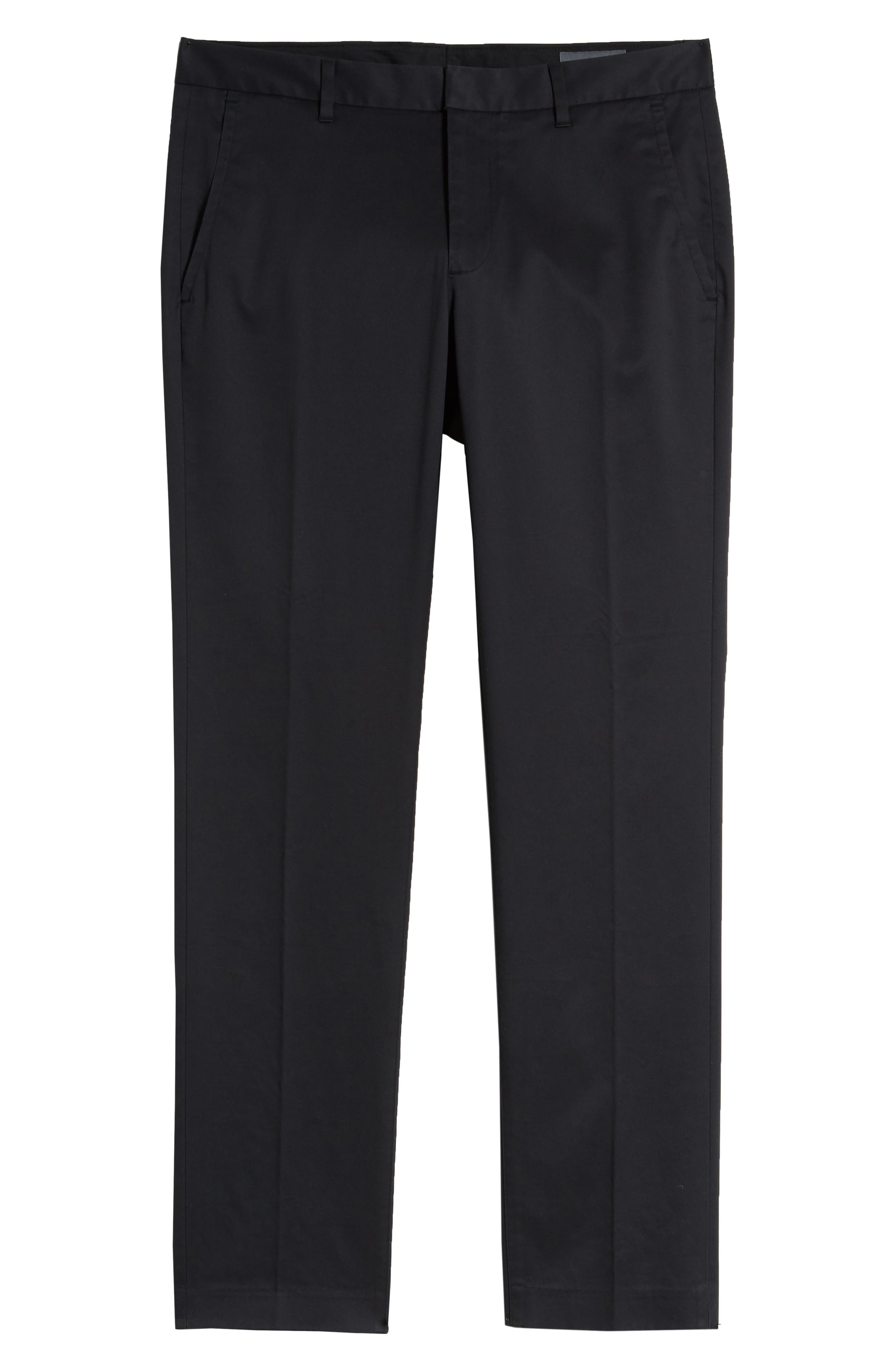 BONOBOS, Weekday Warrior Tailored Fit Stretch Dress Pants, Alternate thumbnail 7, color, BLACK