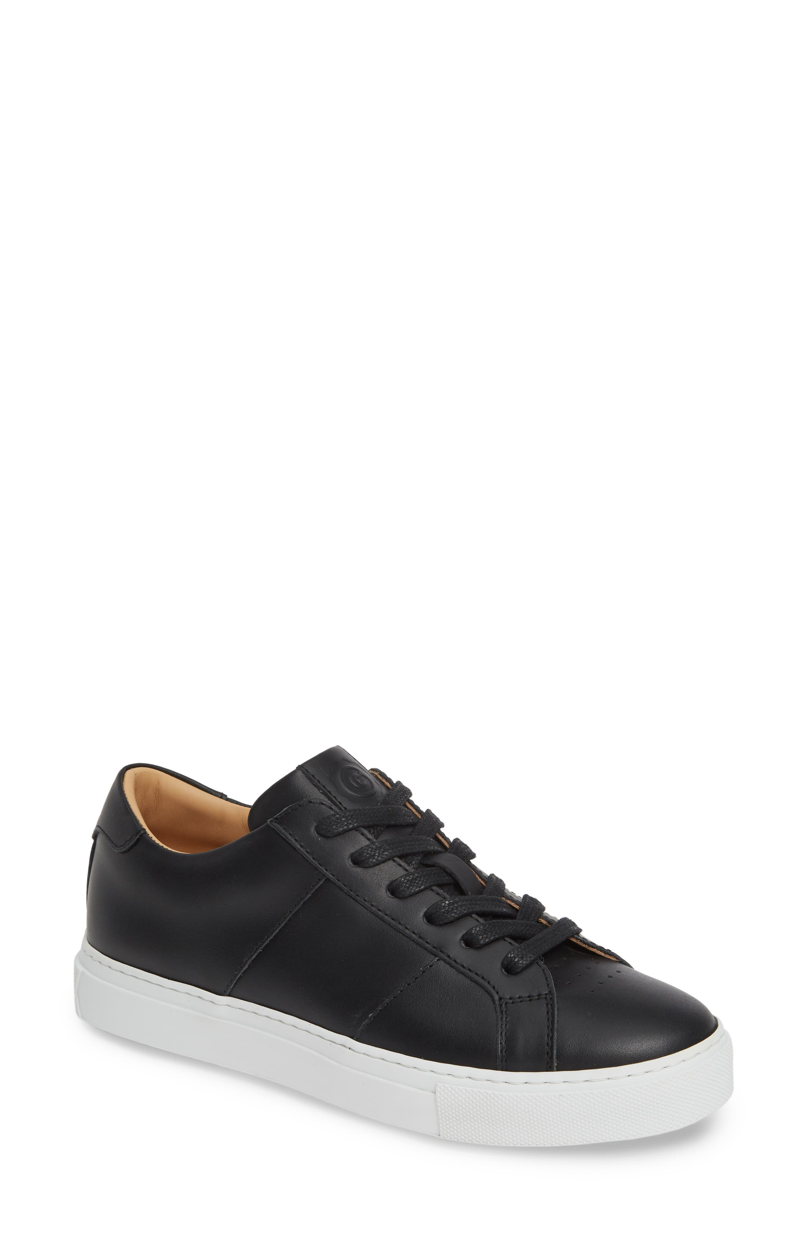 GREATS, Royale Low Top Sneaker, Main thumbnail 1, color, BLACK LEATHER