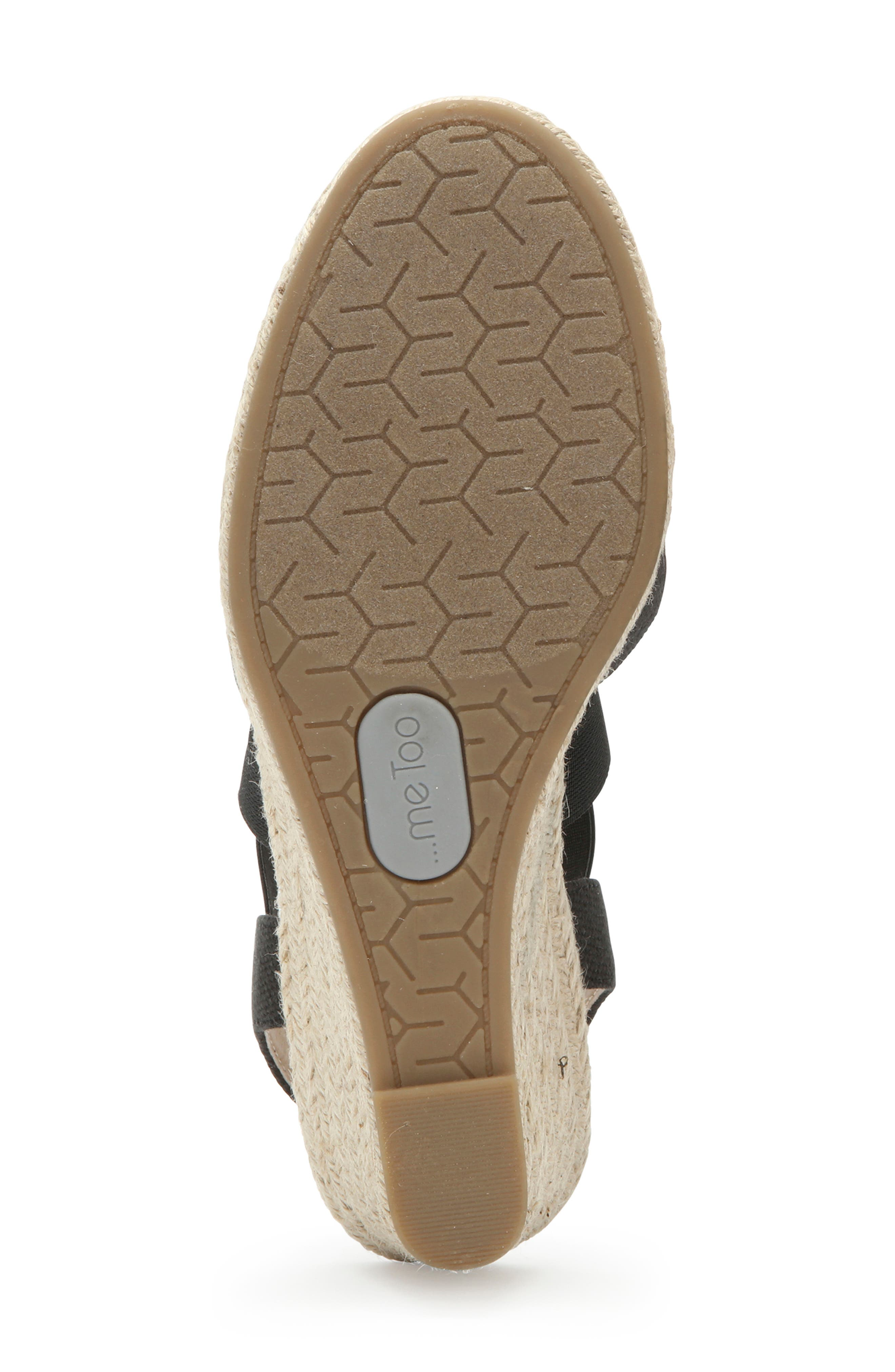 ME TOO, Brinley Espadrille Wedge, Alternate thumbnail 6, color, BLACK CANVAS