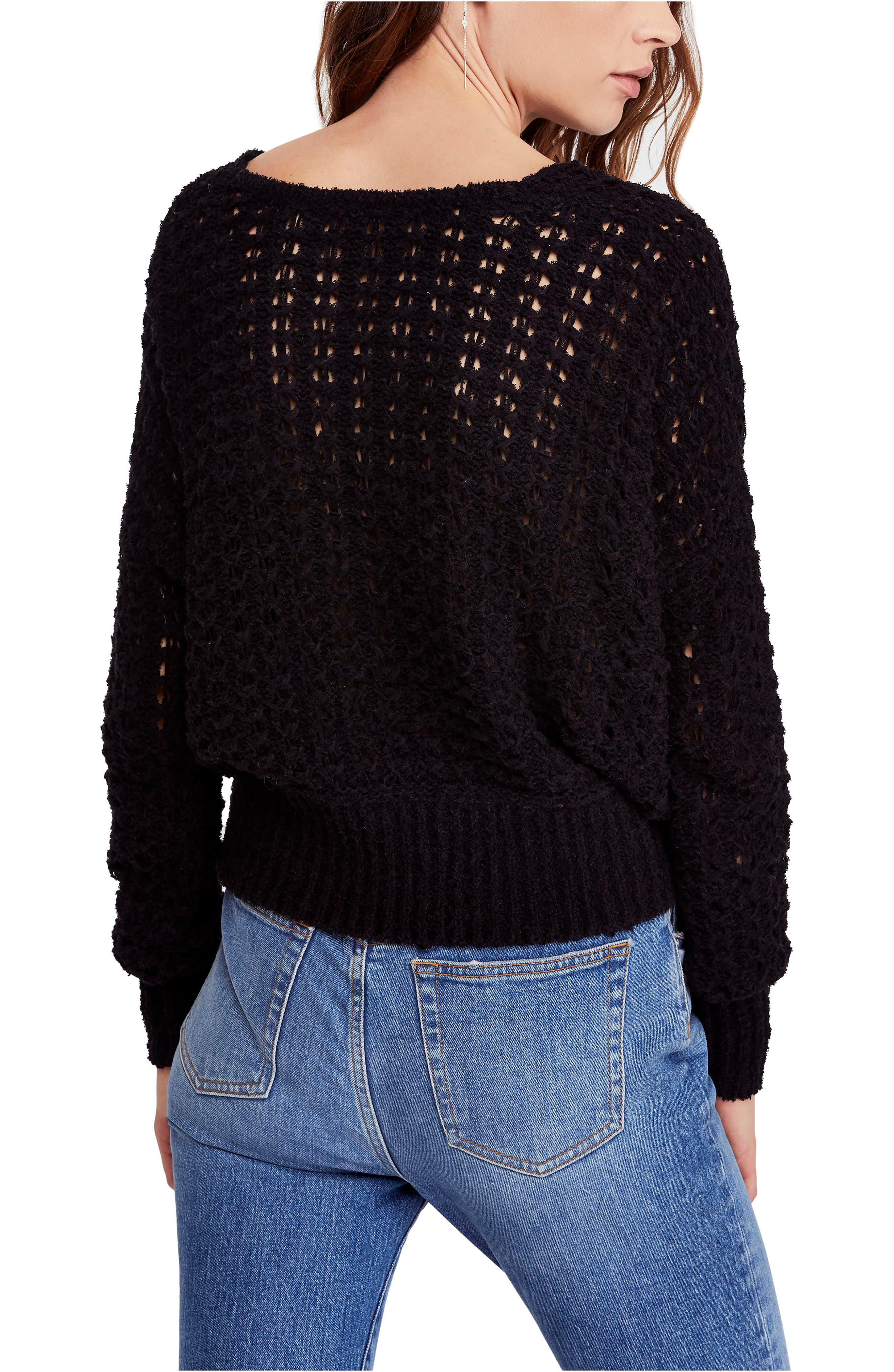 FREE PEOPLE, Best of You Sweater, Alternate thumbnail 2, color, BLACK