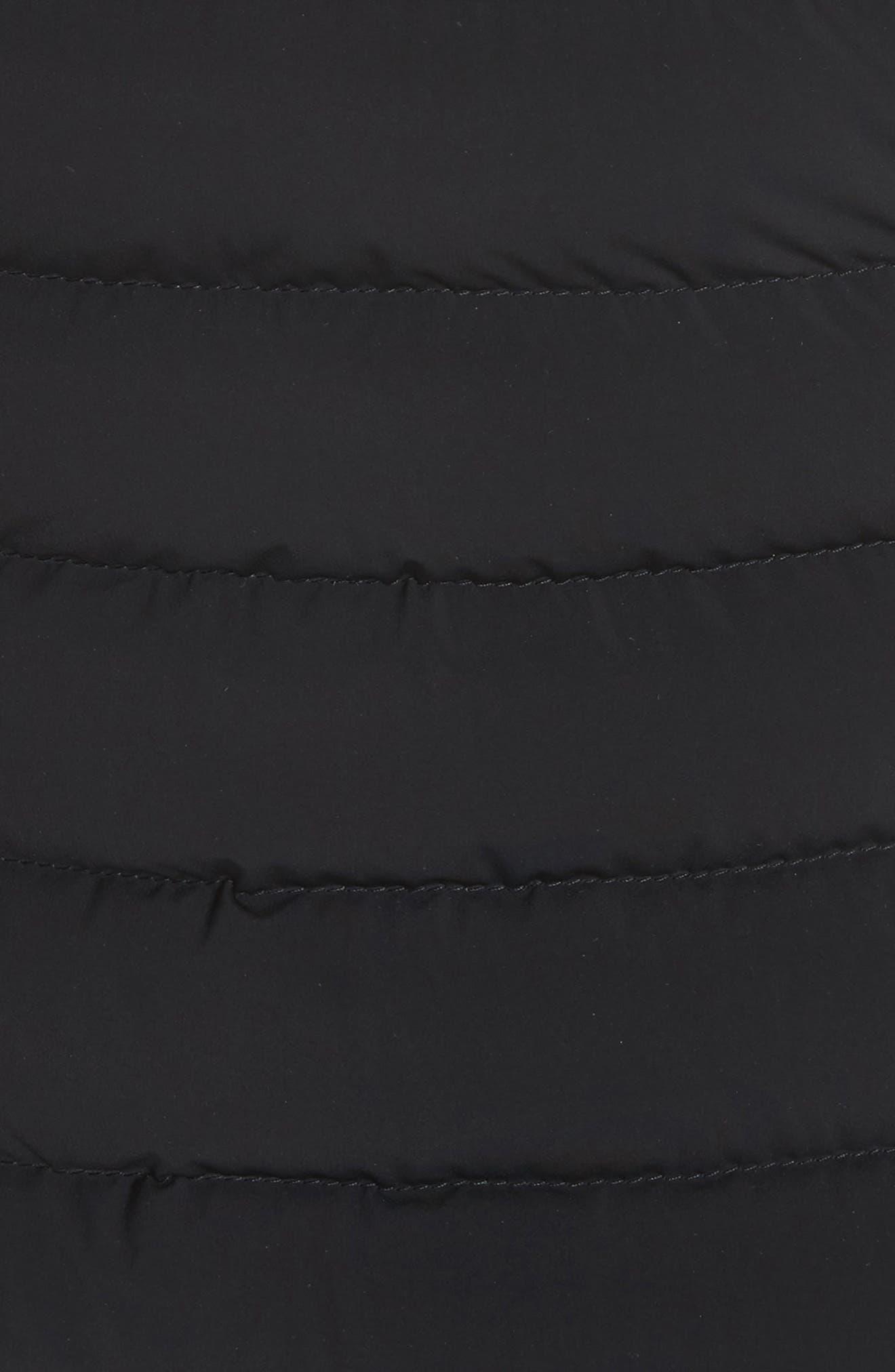 MONCLER, Guillemot Quilted Down Jacket, Alternate thumbnail 6, color, BLACK