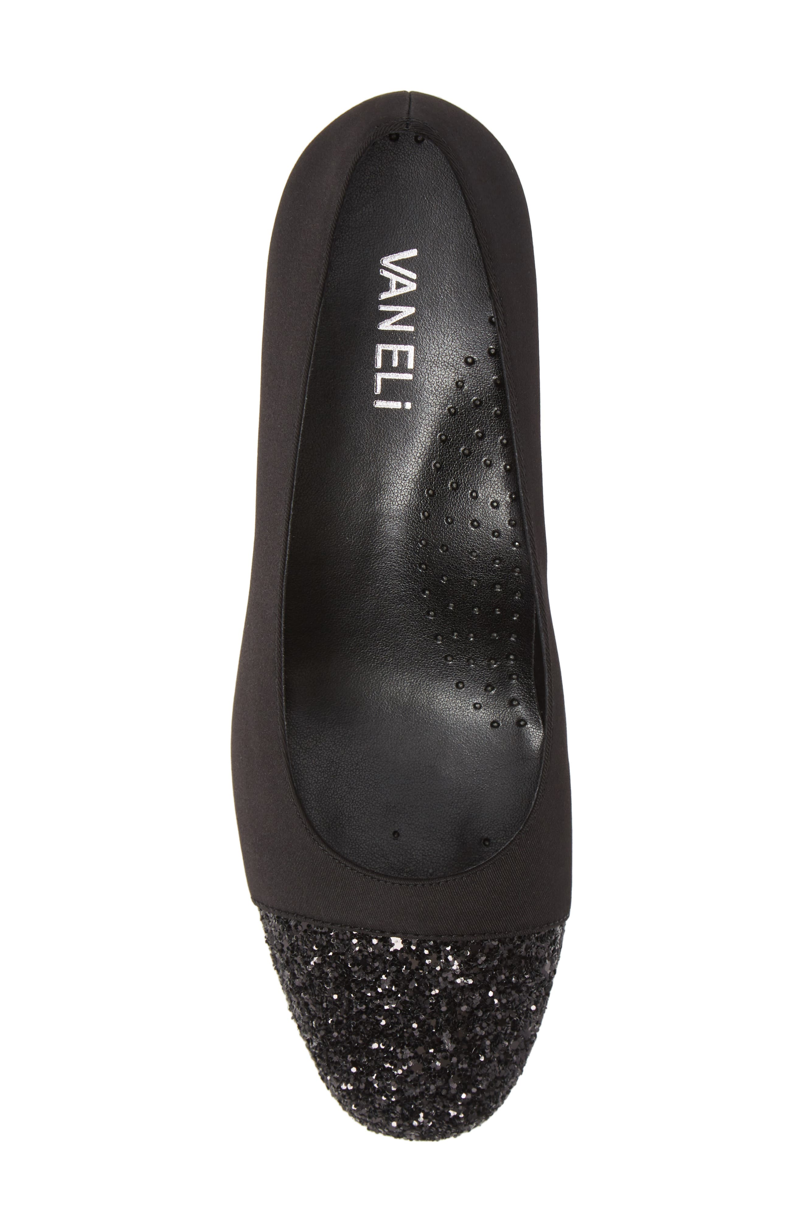 VANELI, Pepper Pump, Alternate thumbnail 5, color, BLACK FABRIC