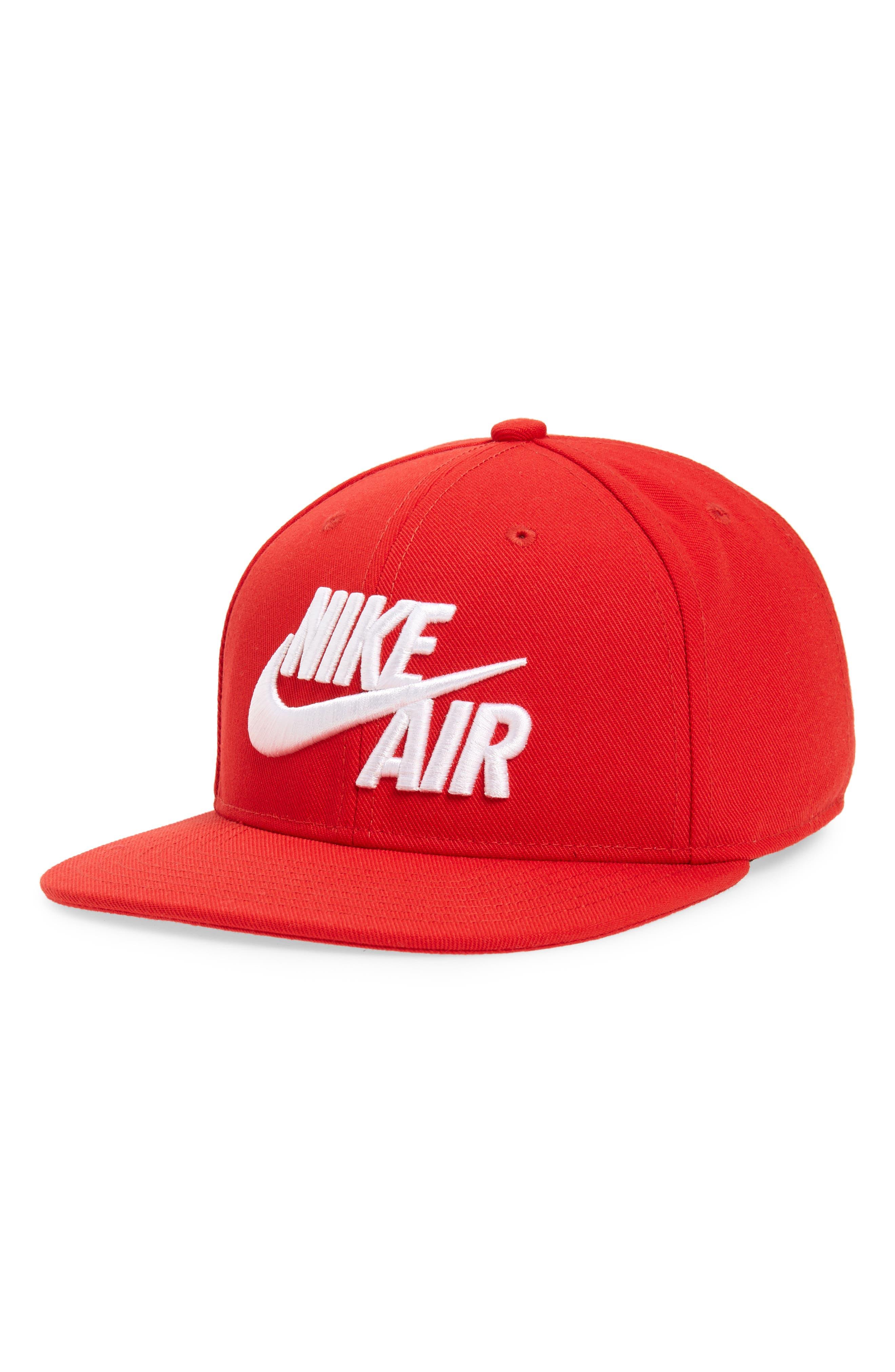 NIKE, Air Pro Snapback Baseball Cap, Main thumbnail 1, color, UNIVERSITY RED