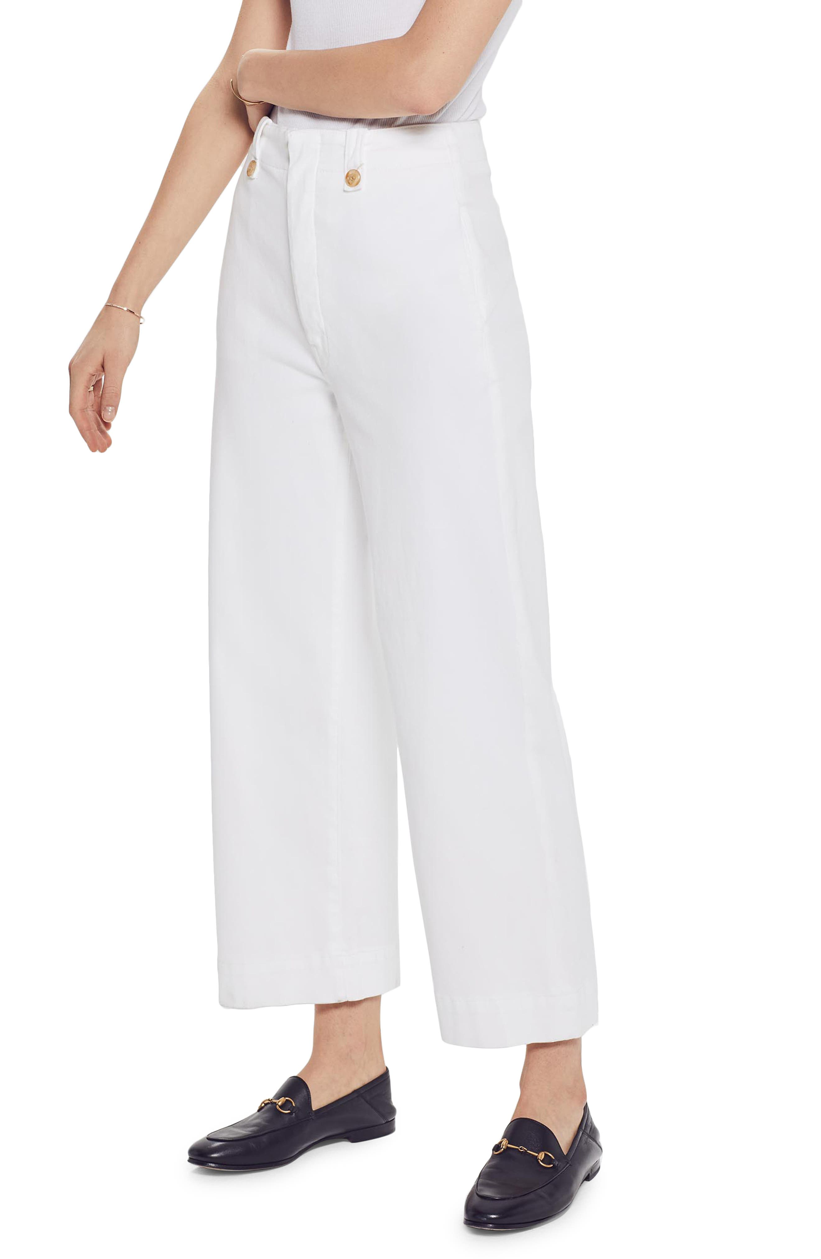MOTHER The Greaser Crop Wide Leg Jeans, Main, color, GLASS SLIPPER