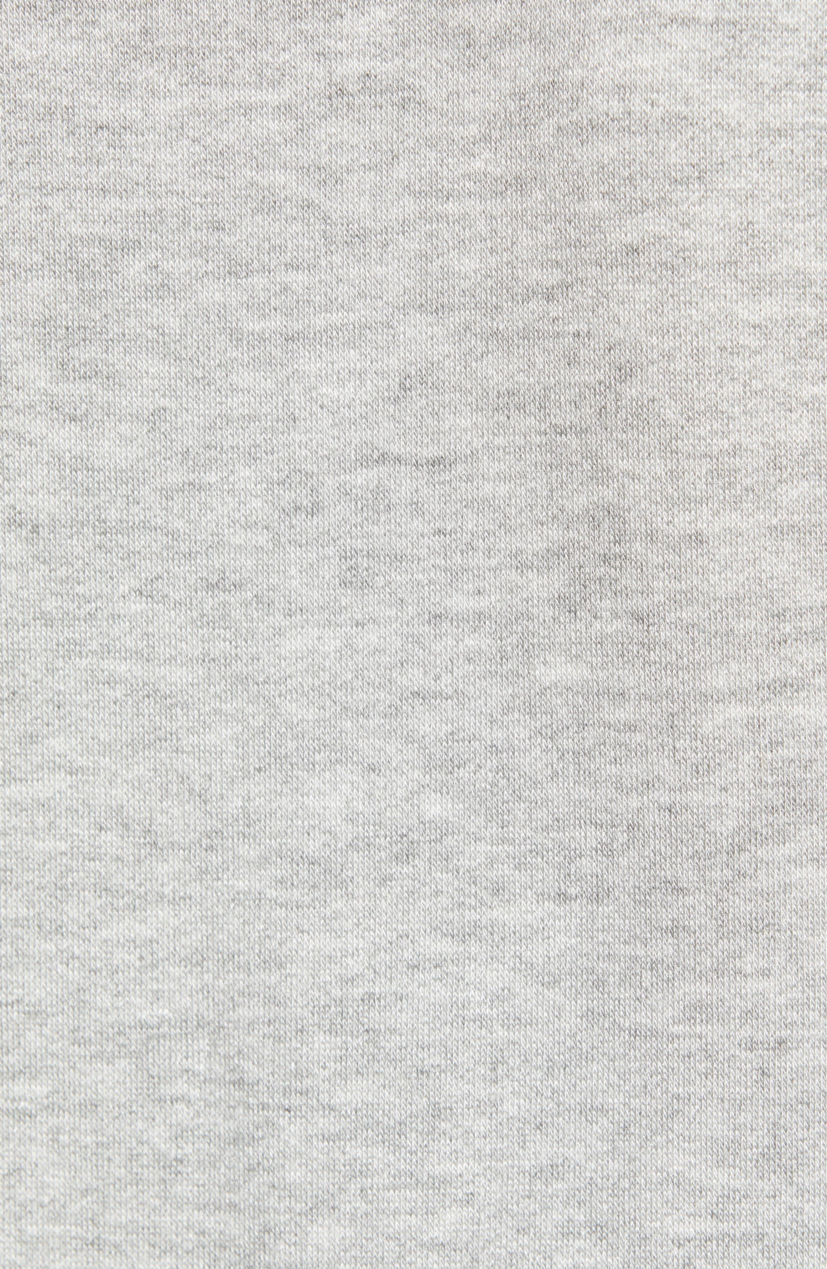CASLON<SUP>®</SUP>, Off-Duty Knit T-Shirt Dress, Alternate thumbnail 6, color, GREY HEATHER