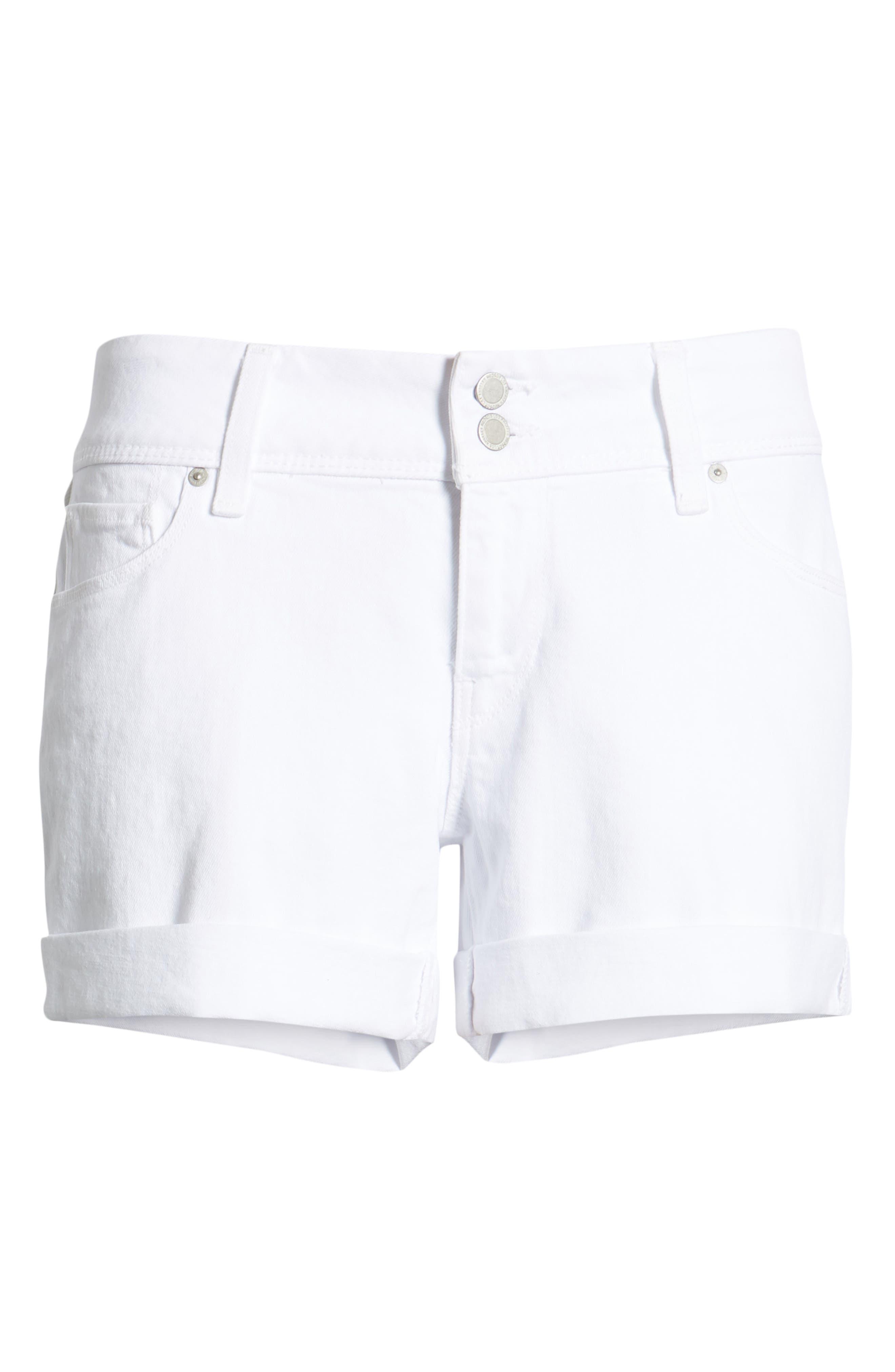 HUDSON JEANS, Croxley Cuff Denim Shorts, Alternate thumbnail 7, color, WHITE 2