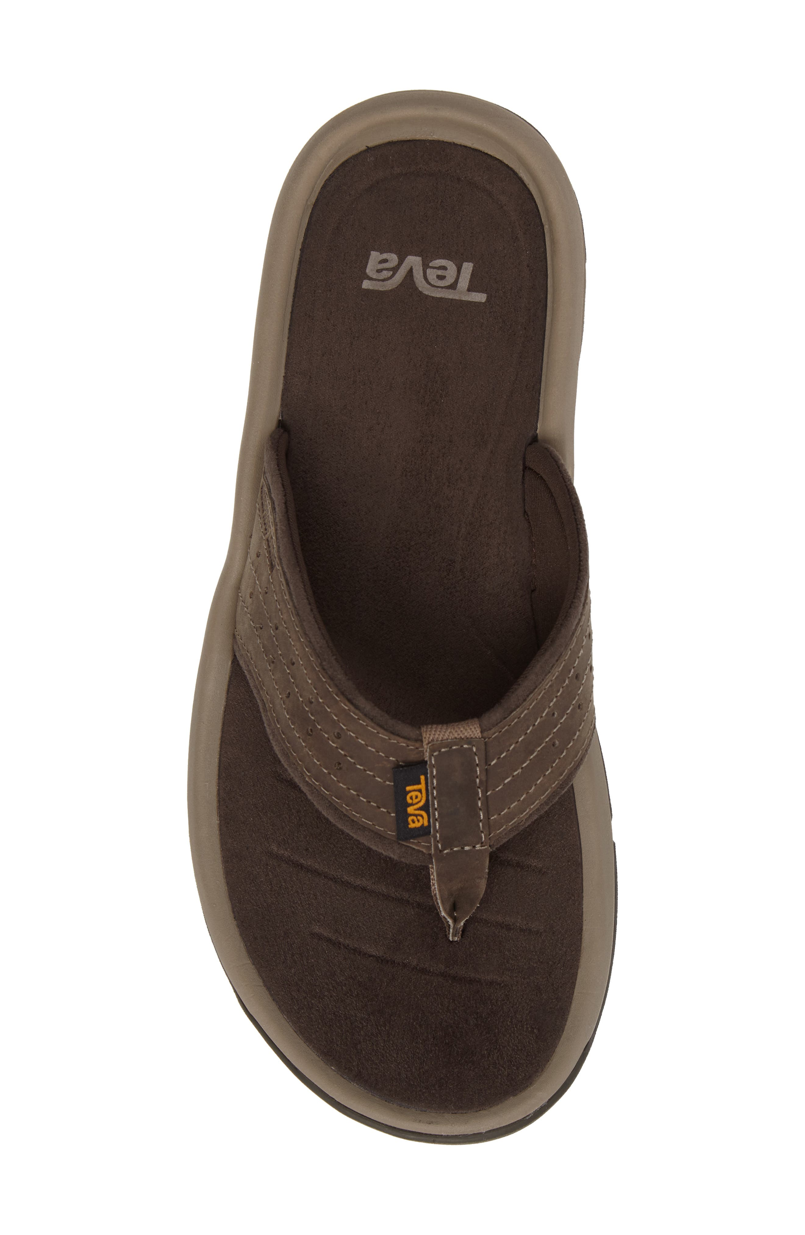 TEVA, Langdon Flip Flop, Alternate thumbnail 5, color, WALNUT