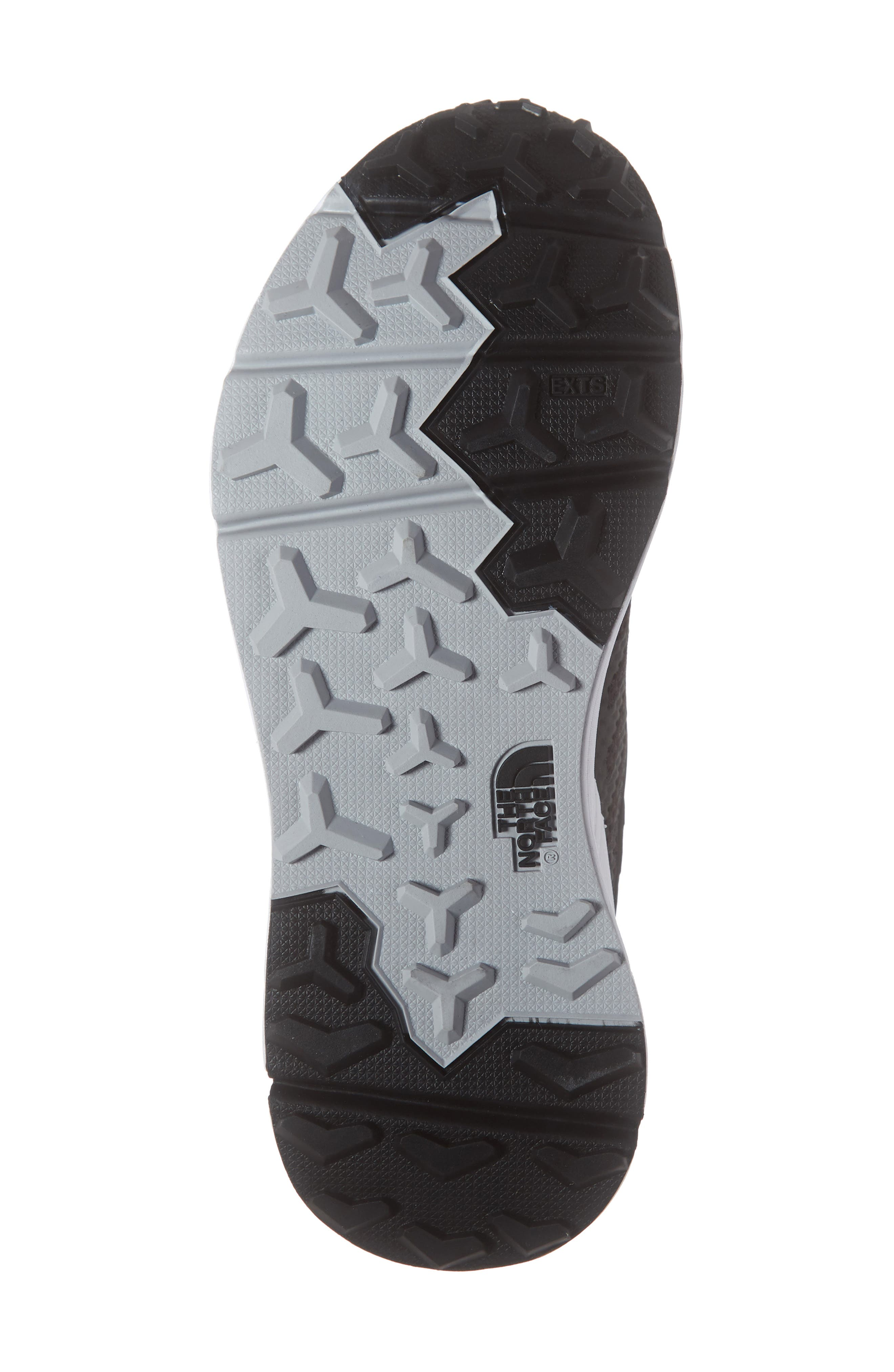 THE NORTH FACE, Ampezzo Running Shoe, Alternate thumbnail 6, color, BLACK/ WHITE