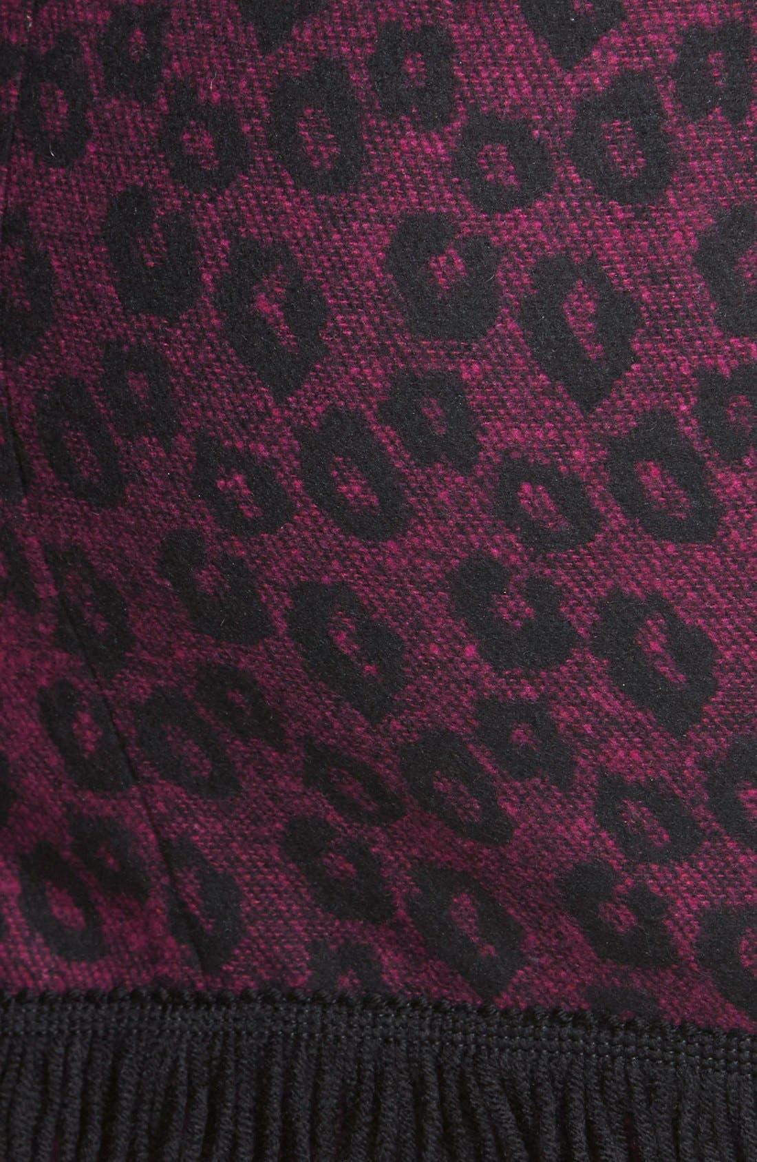 SISTER JANE, Animal Print Crossover Wrap Skirt, Alternate thumbnail 2, color, 500