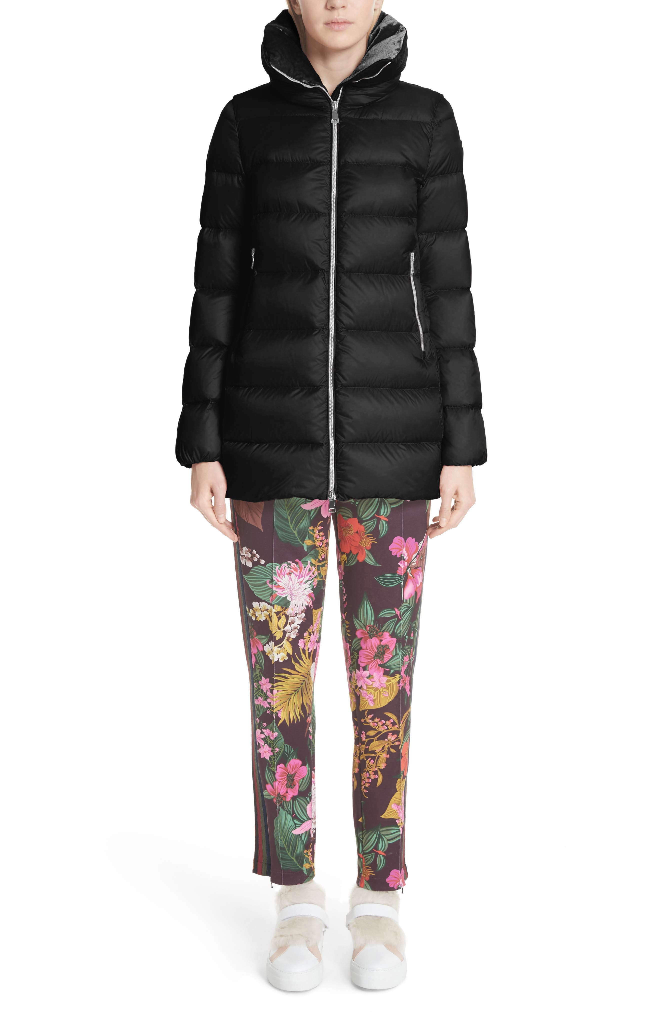 MONCLER, Torcol Quilted Down Jacket, Alternate thumbnail 7, color, BLACK