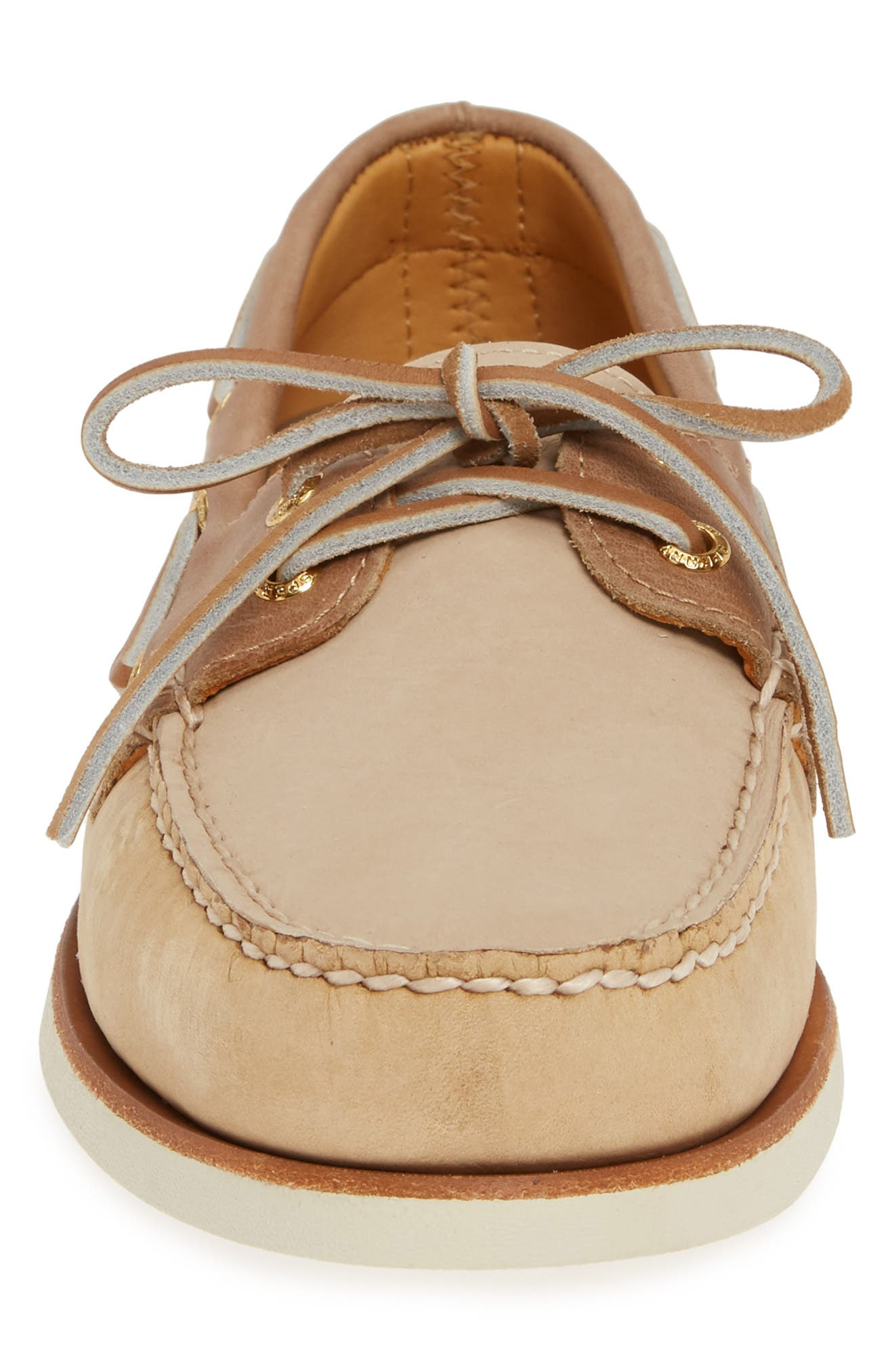 SPERRY, Gold Cup Authentic Original Boat Shoe, Alternate thumbnail 4, color, TAN/ BROWN/ CREAM LEATHER