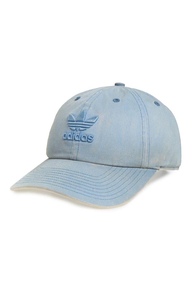 Adidas Originals ORIGINALS RELAXED OVERDYED BASEBALL CAP - BLUE