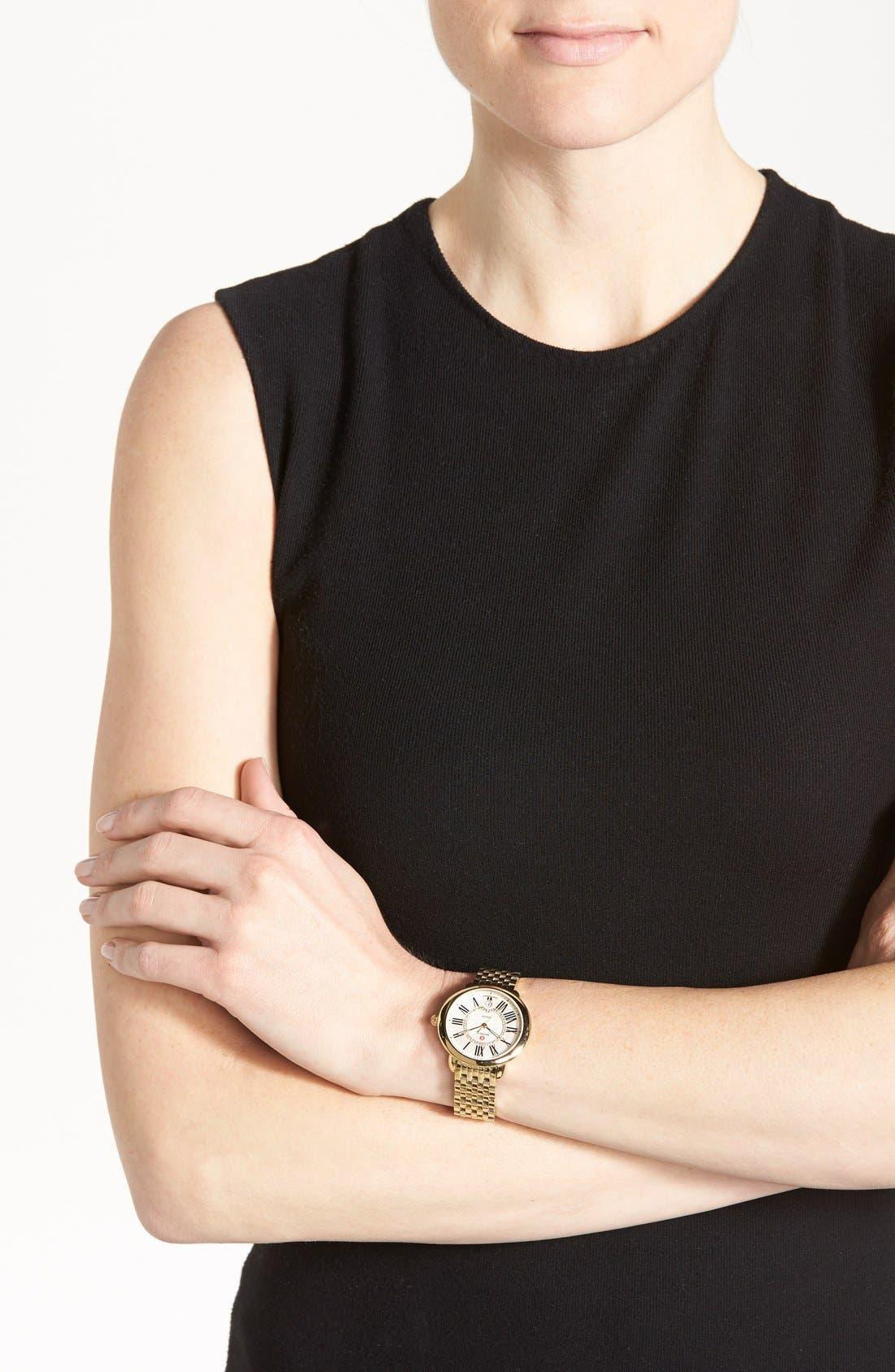 MICHELE, Serein 16 Diamond Dial Watch Head, 34mm x 36mm, Alternate thumbnail 6, color, GOLD