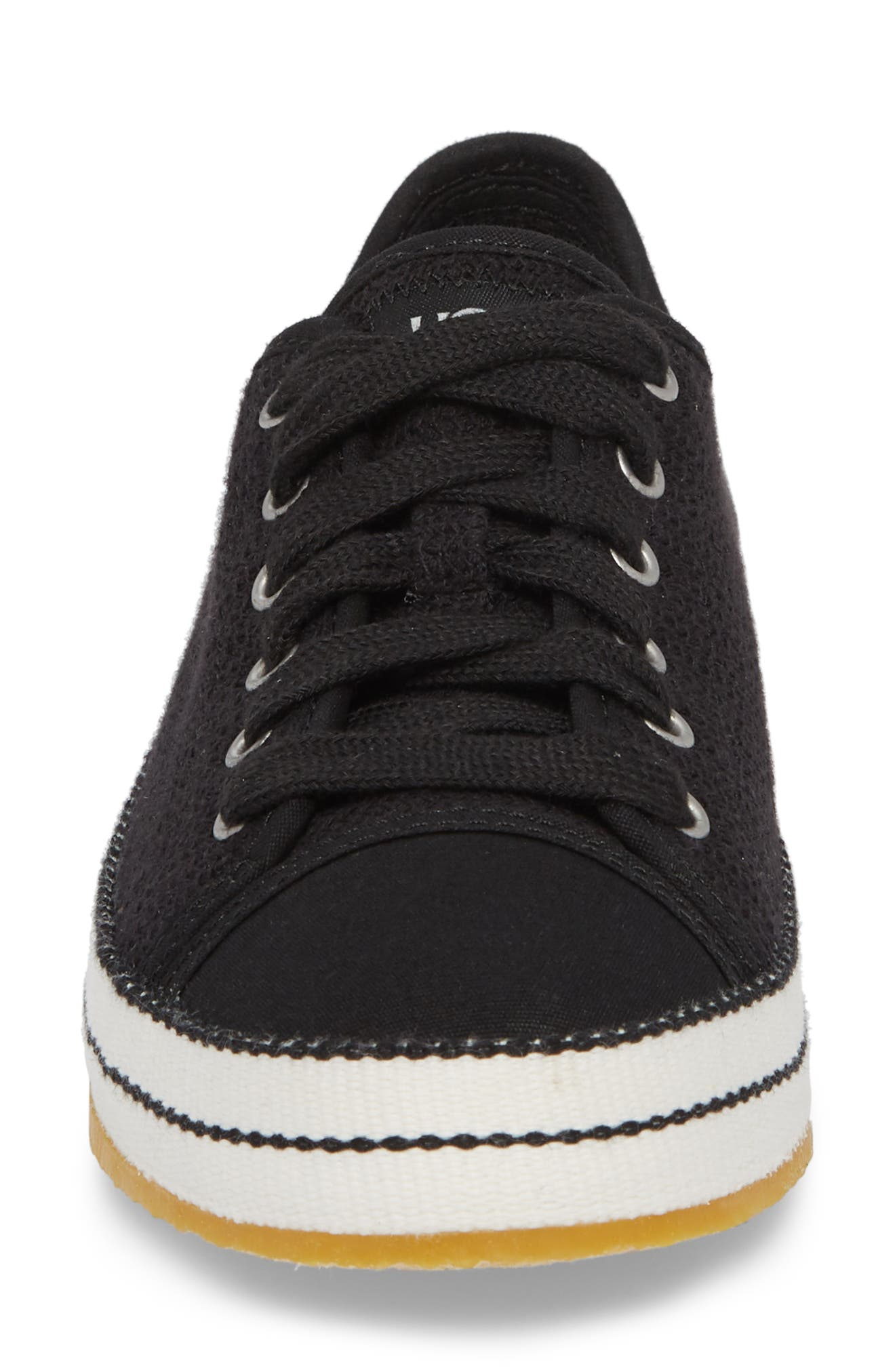 UGG<SUP>®</SUP>, Claudi Sneaker, Alternate thumbnail 4, color, BLACK