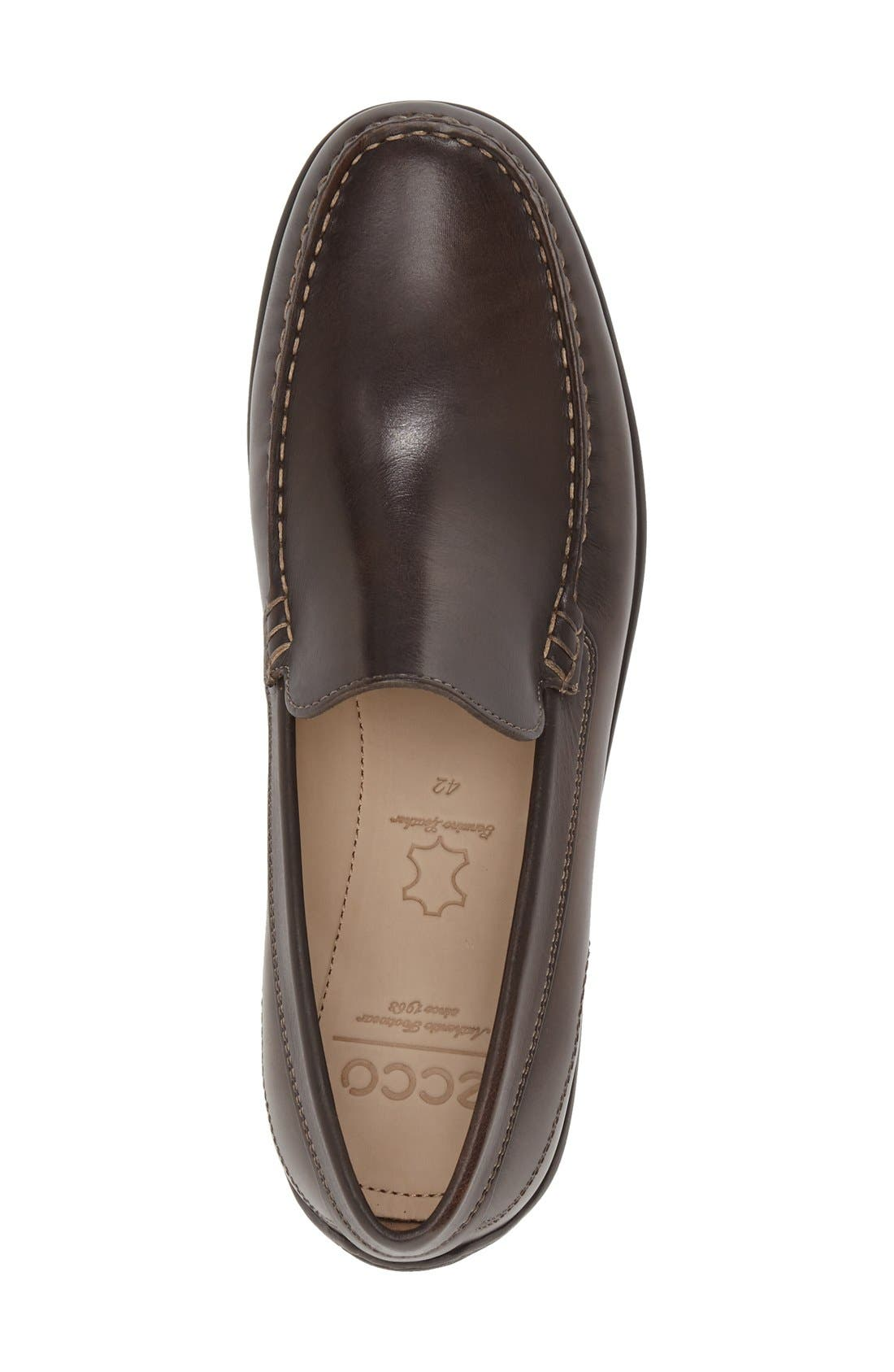 ECCO, 'Classic Moc II' Venetian Loafer, Alternate thumbnail 3, color, COFFEE LEATHER