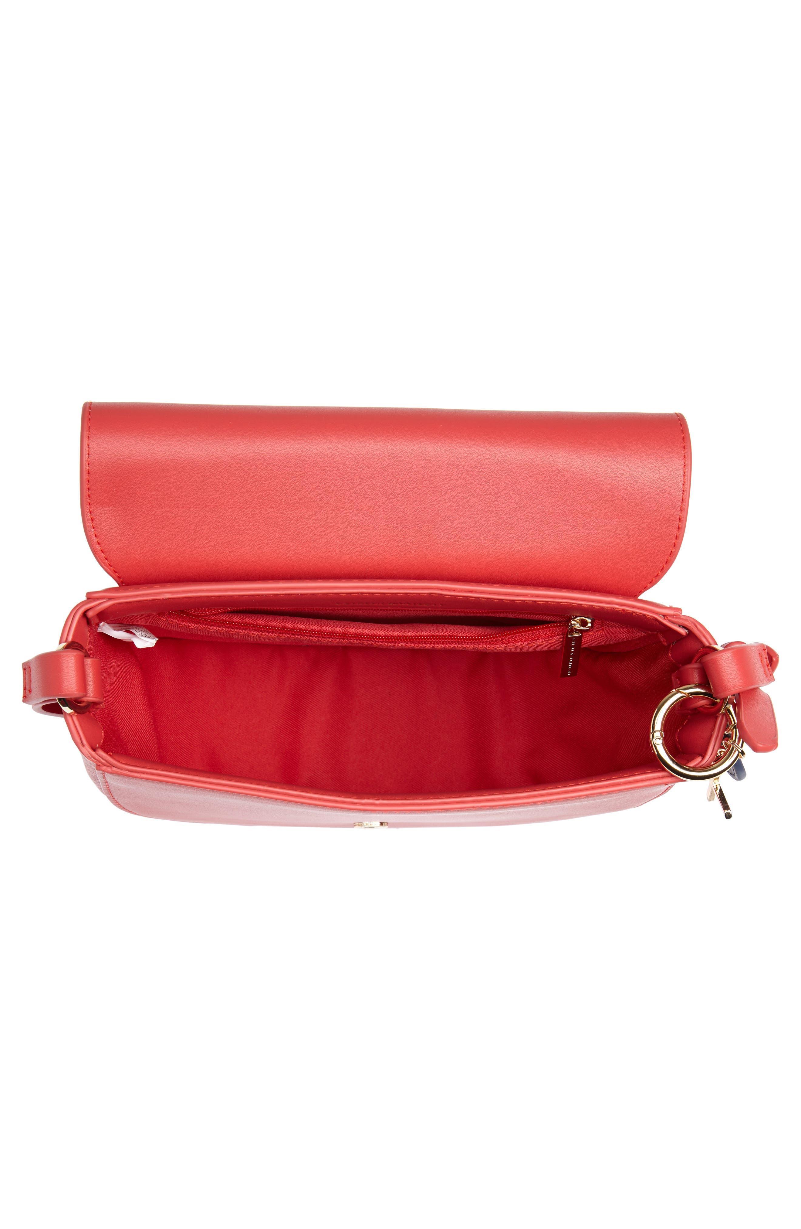 ESTELLA BARTLETT, Loman Faux Leather Saddle Bag, Alternate thumbnail 5, color, 600