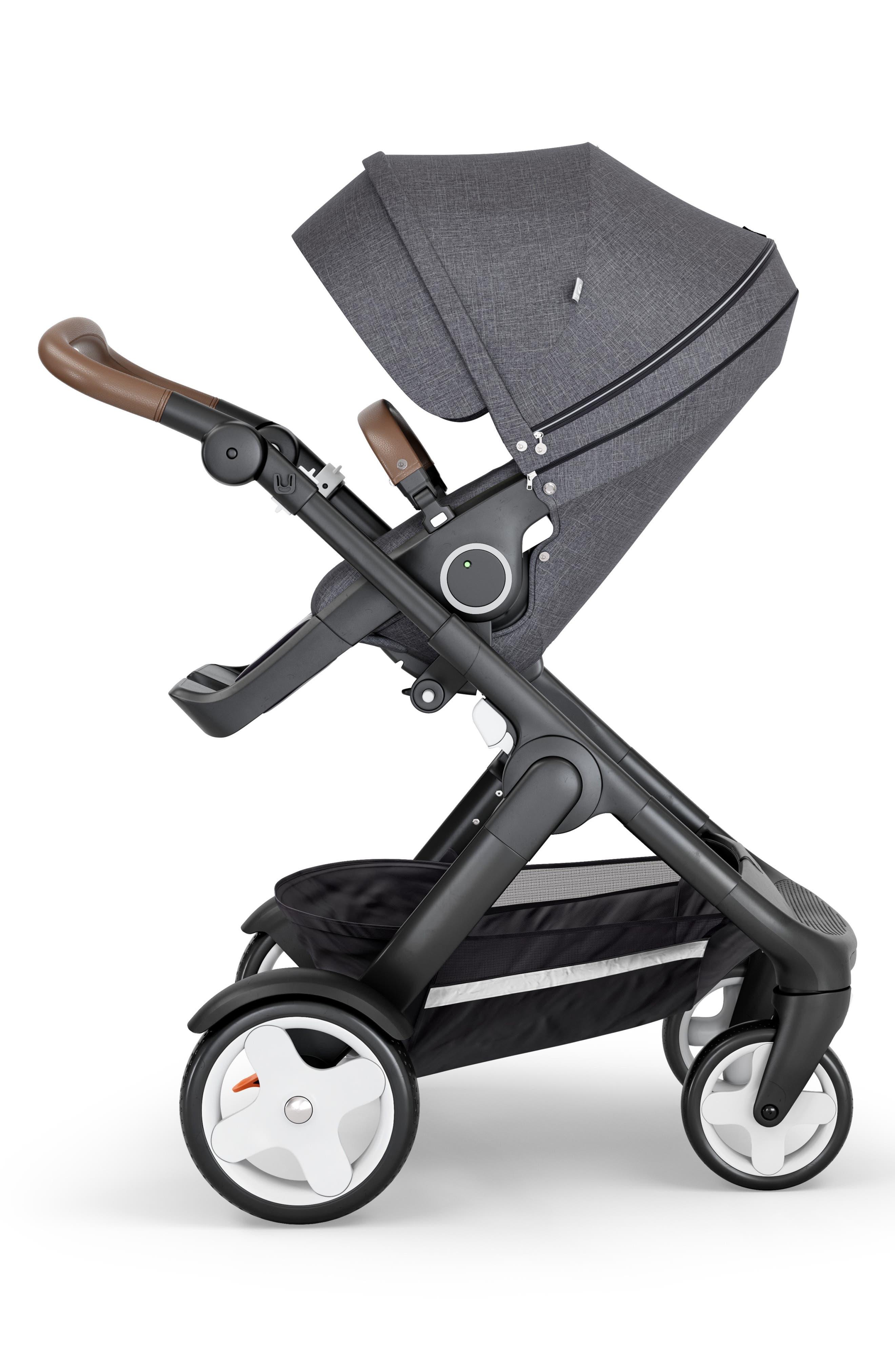 STOKKE Trailz Black Frame All Terrain Stroller, Main, color, BLACK MELANGE
