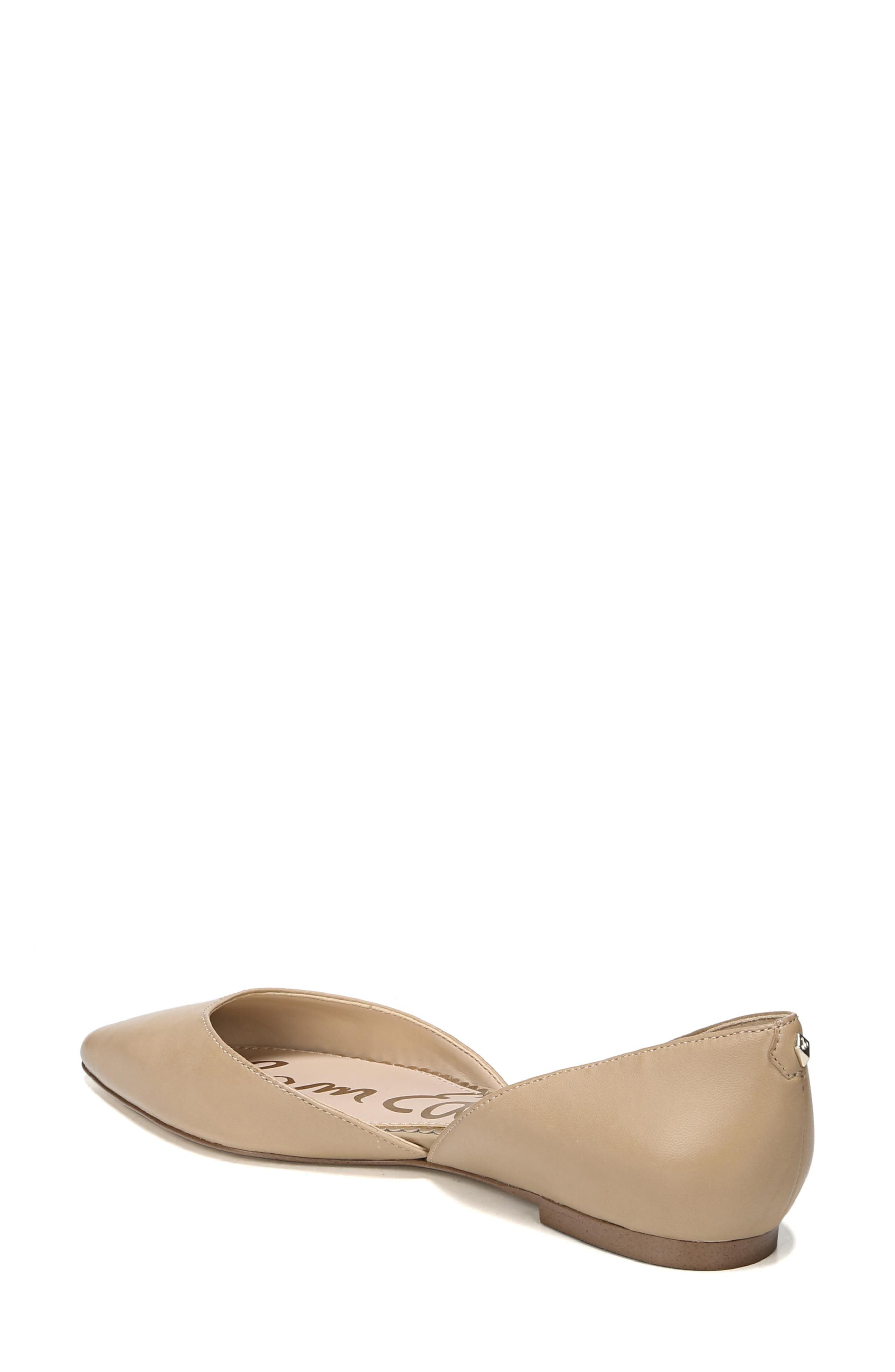 SAM EDELMAN, Rodney Pointy Toe d'Orsay Flat, Alternate thumbnail 2, color, CLASSIC NUDE LEATHER