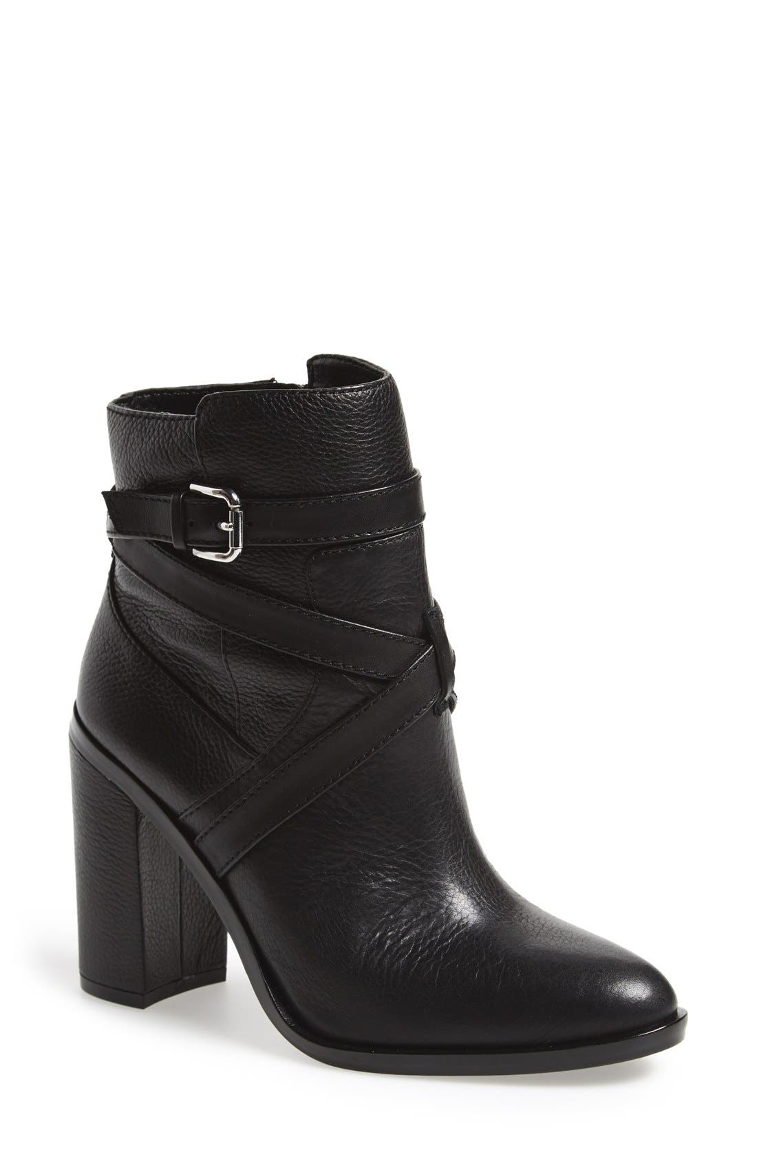 VINCE CAMUTO, 'Gravell' Belted Boot, Main thumbnail 1, color, 001