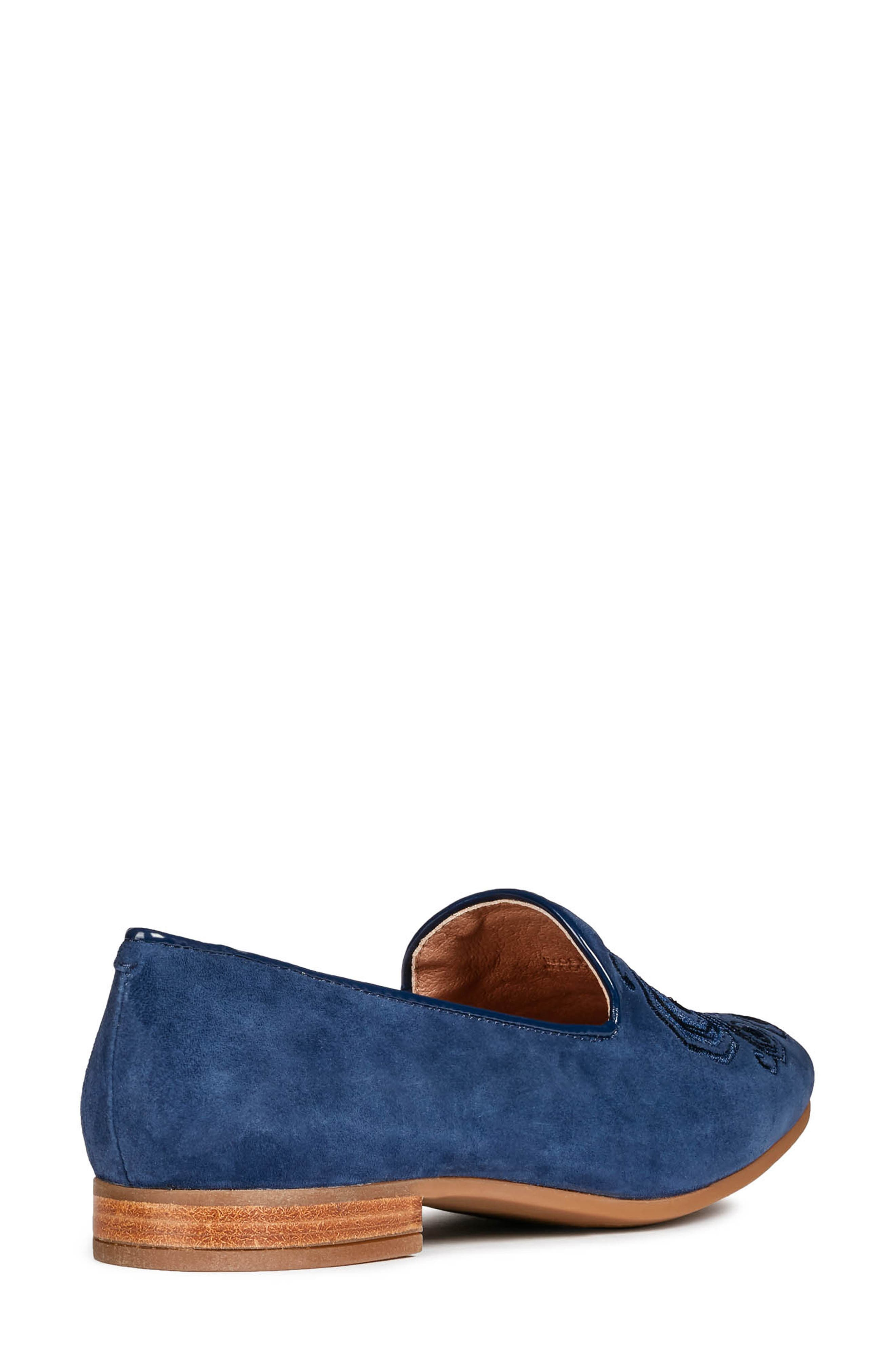 GEOX, Marlyna Loafer, Alternate thumbnail 2, color, BLUE SUEDE