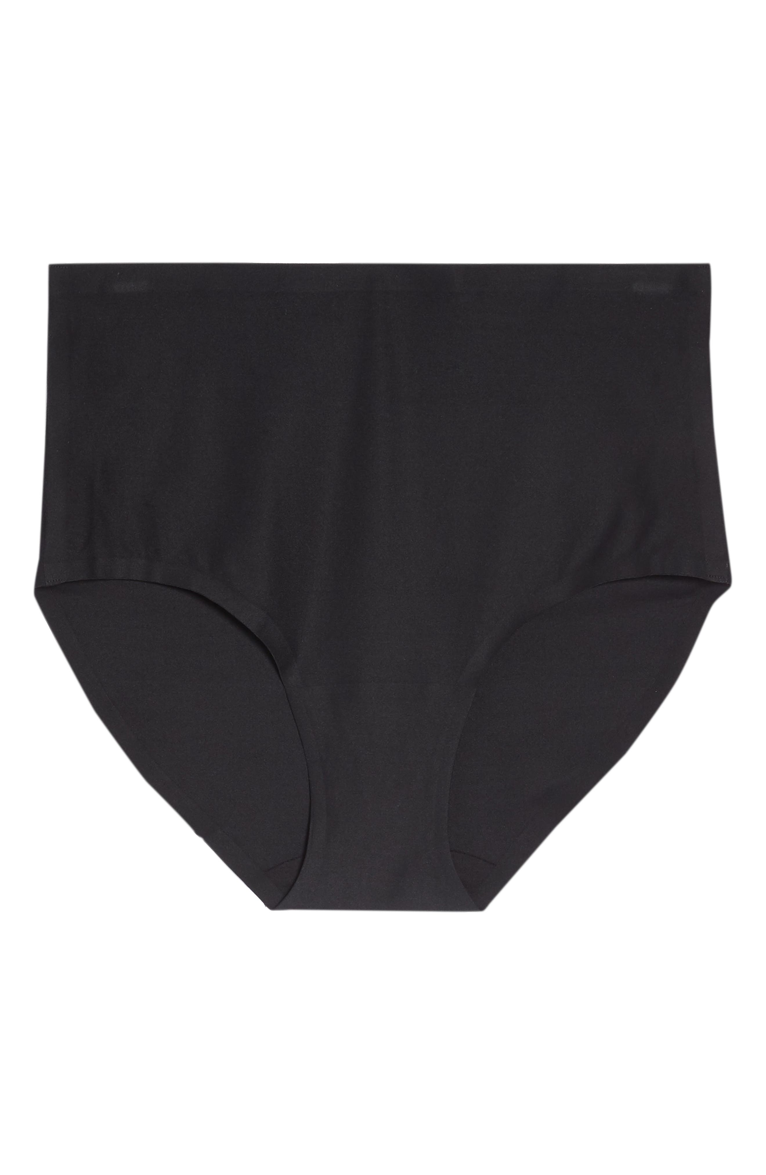 CHANTELLE LINGERIE, Soft Stretch High Waist Seamless Briefs, Alternate thumbnail 6, color, BLACK
