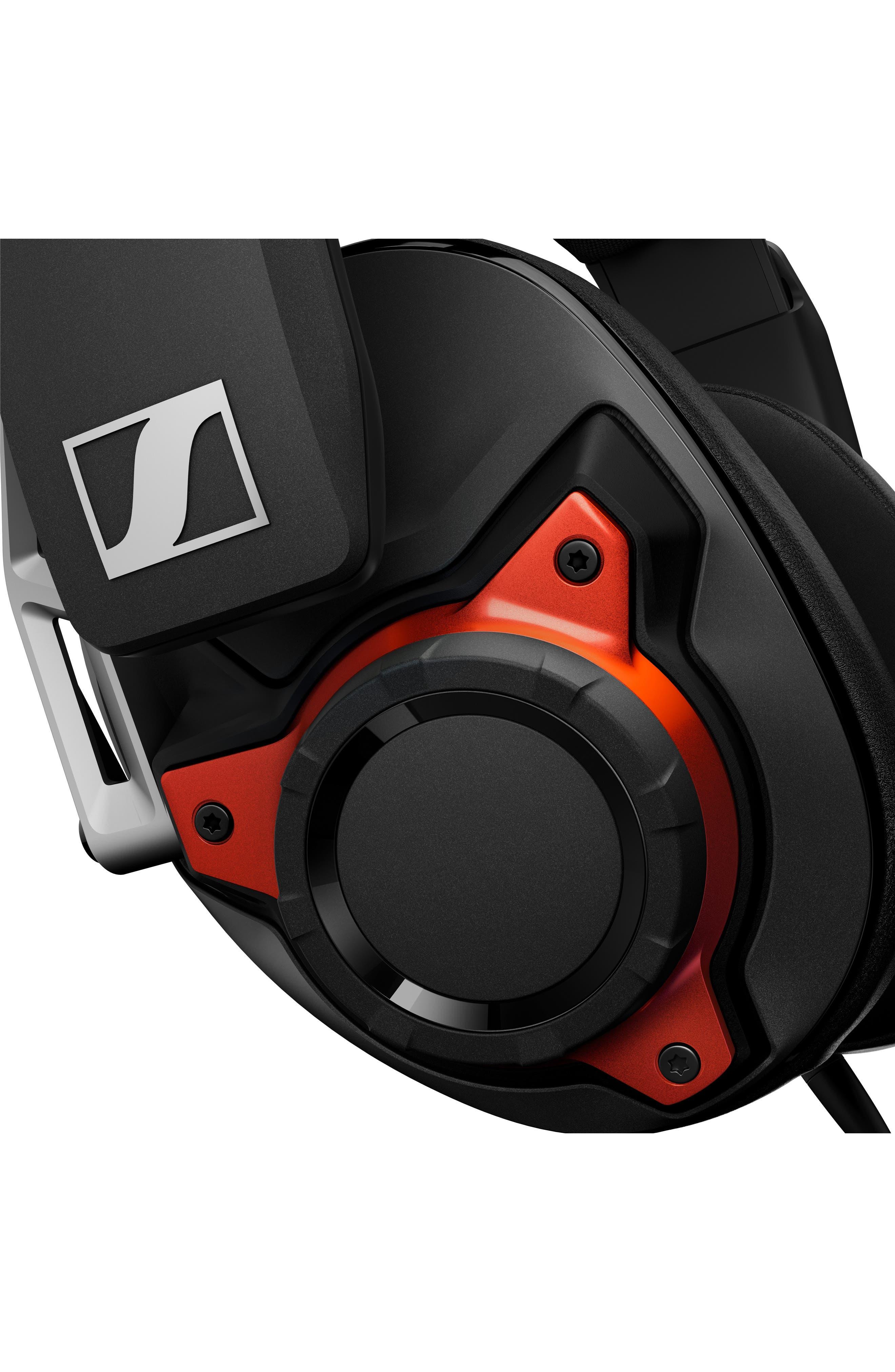 SENNHEISER, GSP 600 Noise Cancelling Gaming Headset, Alternate thumbnail 7, color, BLACK/ ORANGE