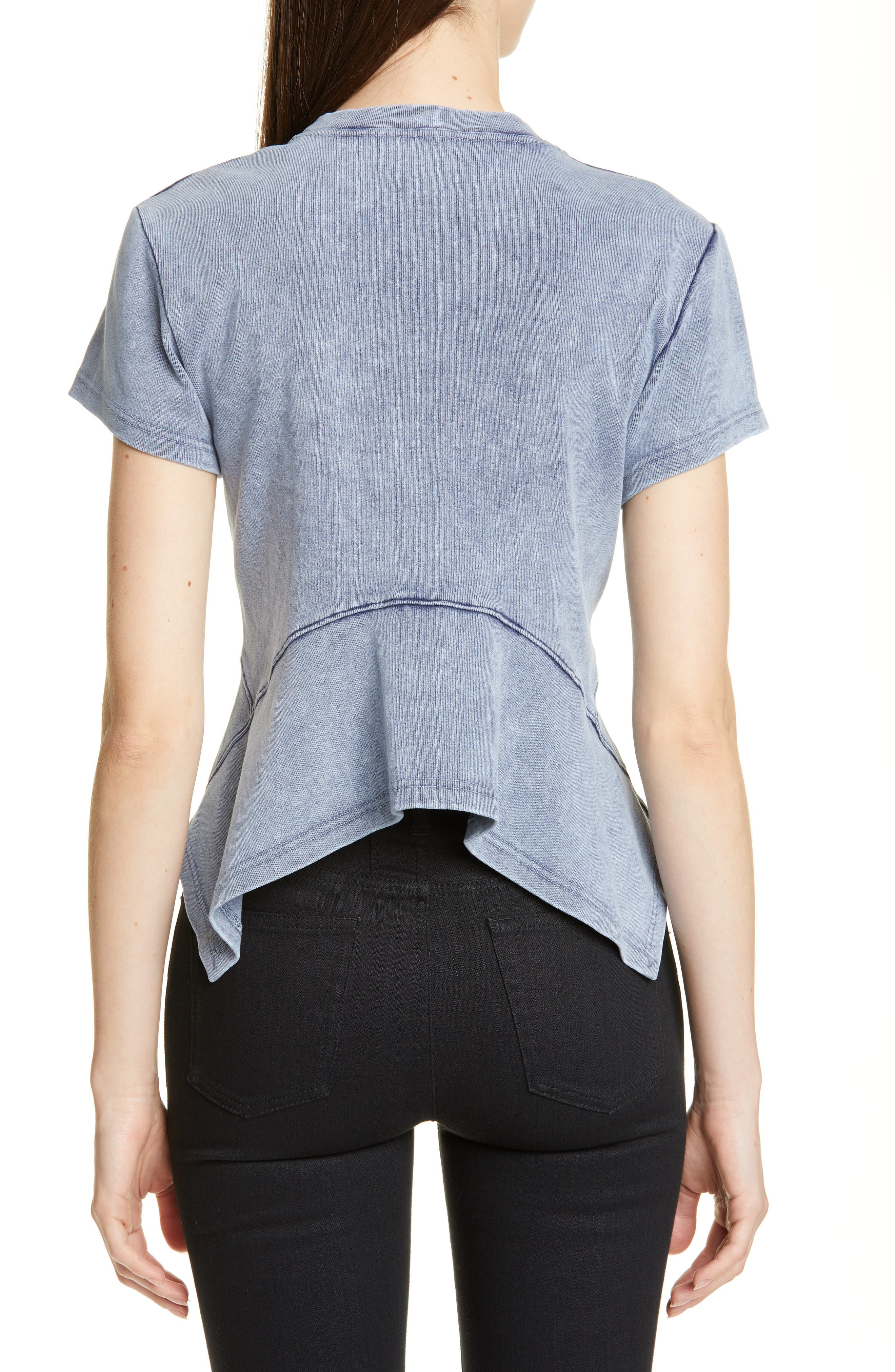 PROENZA SCHOULER, Washed Jersey Top, Alternate thumbnail 2, color, WASHED ACID