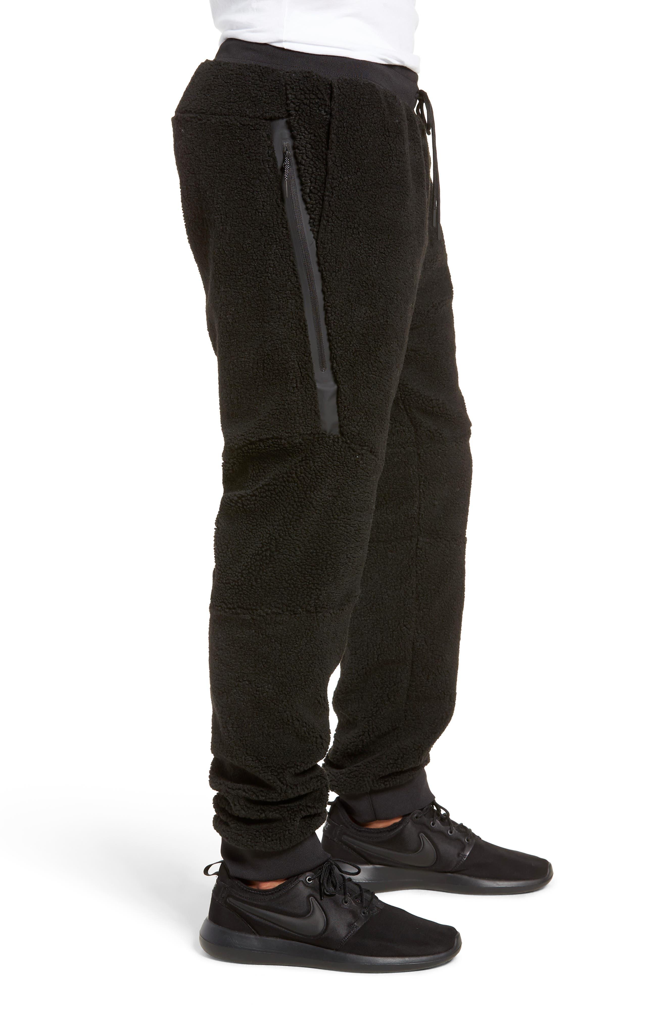 NIKE, Sportswear Tech Fleece Icon Jogger Pants, Alternate thumbnail 4, color, 010